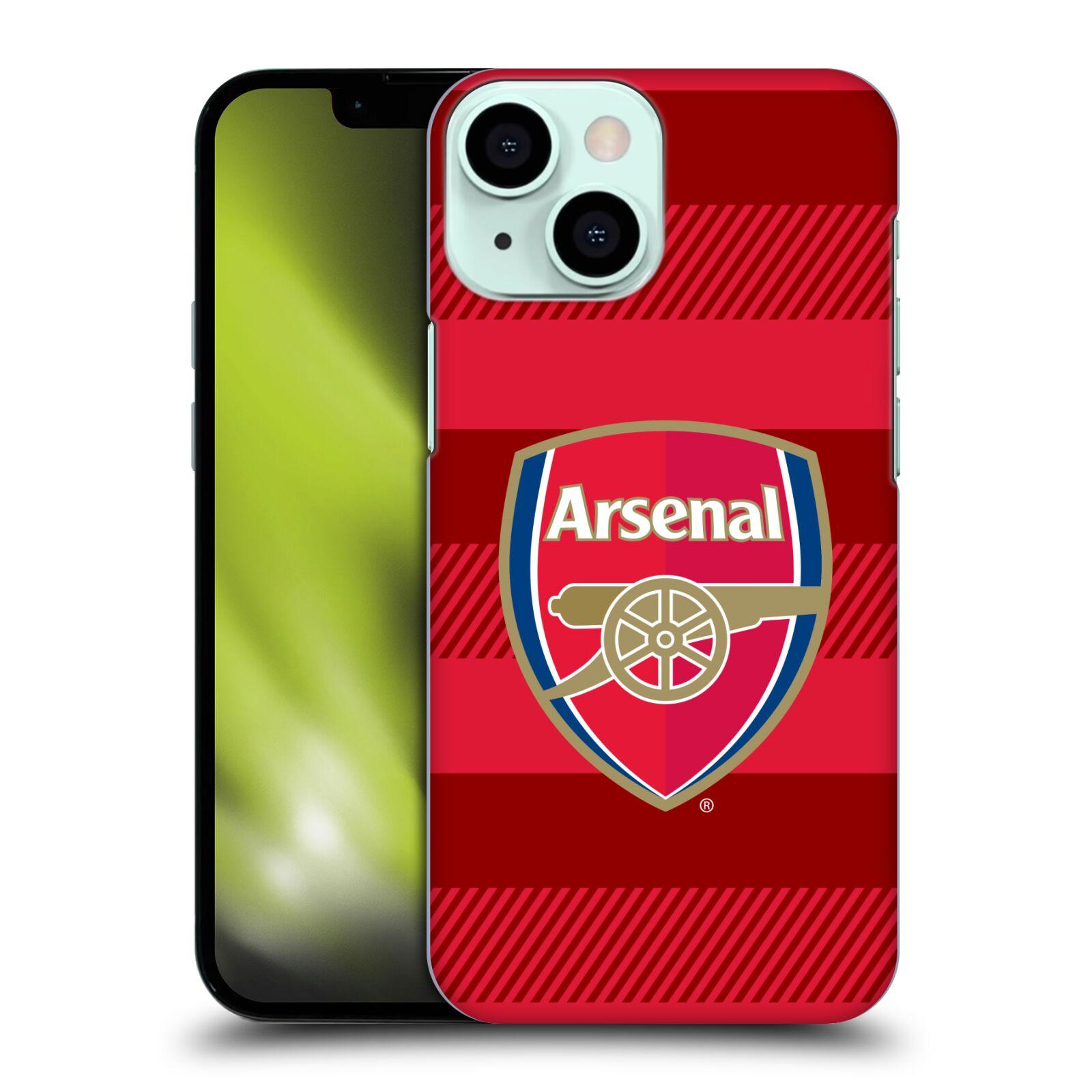Plastové pouzdro na mobil Apple iPhone 13 Mini - Head Case - Arsenal FC - Logo s pruhy