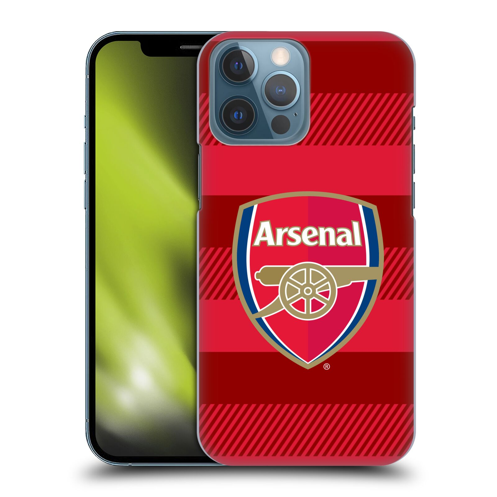 Plastové pouzdro na mobil Apple iPhone 13 Pro Max - Head Case - Arsenal FC - Logo s pruhy