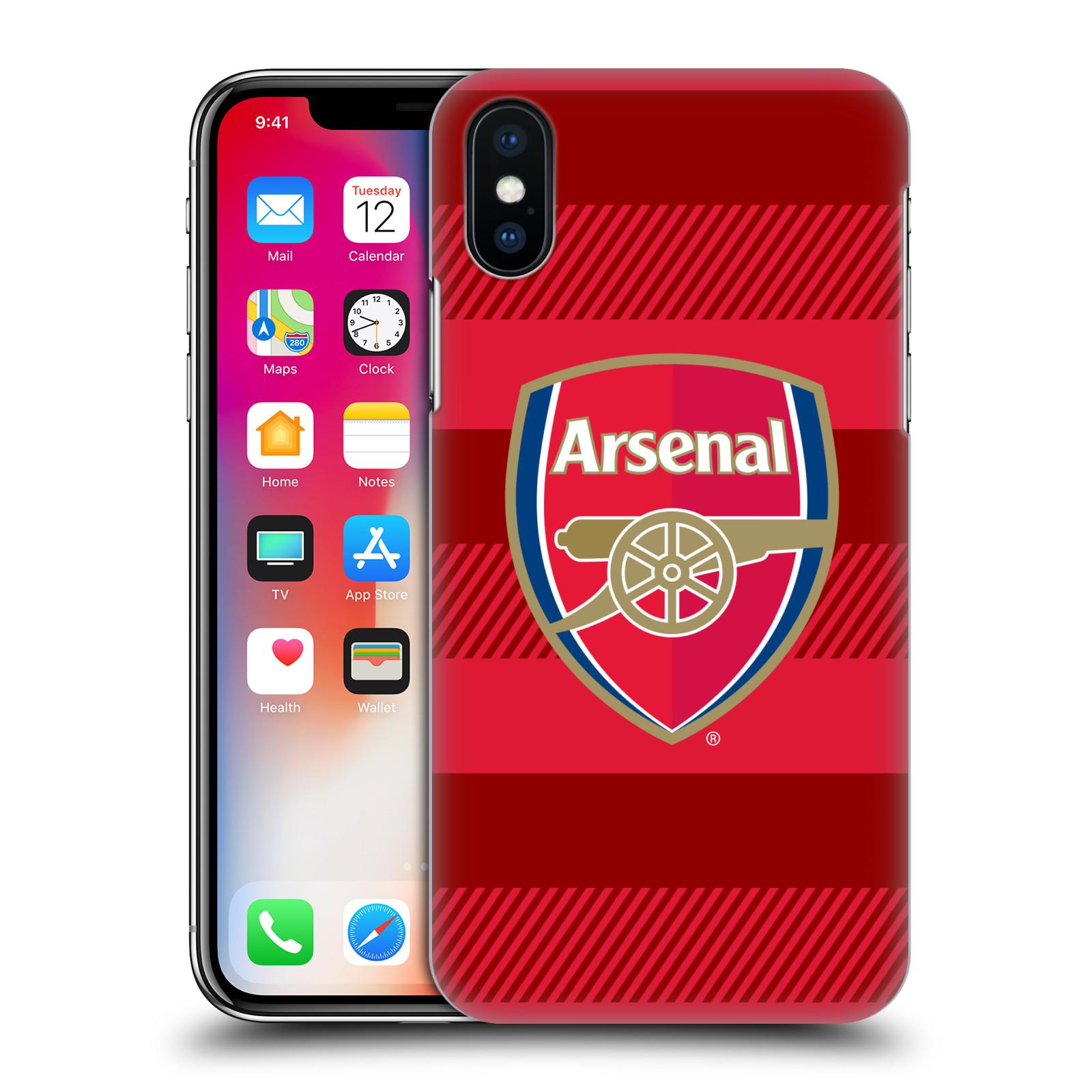 Plastové pouzdro na mobil Apple iPhone X - Head Case - Arsenal FC - Logo s pruhy