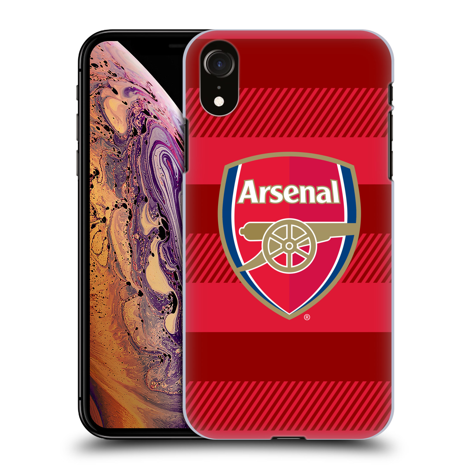 Plastové pouzdro na mobil Apple iPhone XR - Head Case - Arsenal FC - Logo s pruhy