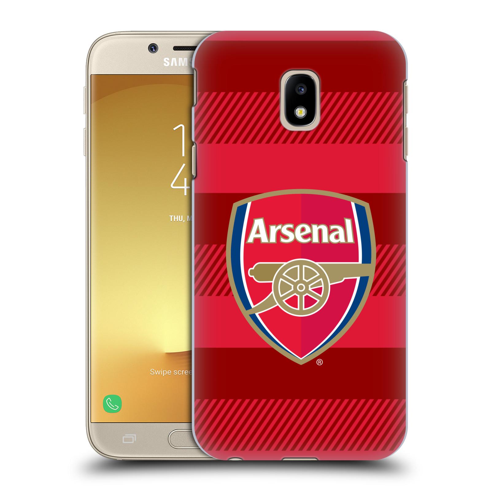 Plastové pouzdro na mobil Samsung Galaxy J3 (2017) - Head Case - Arsenal FC - Logo s pruhy