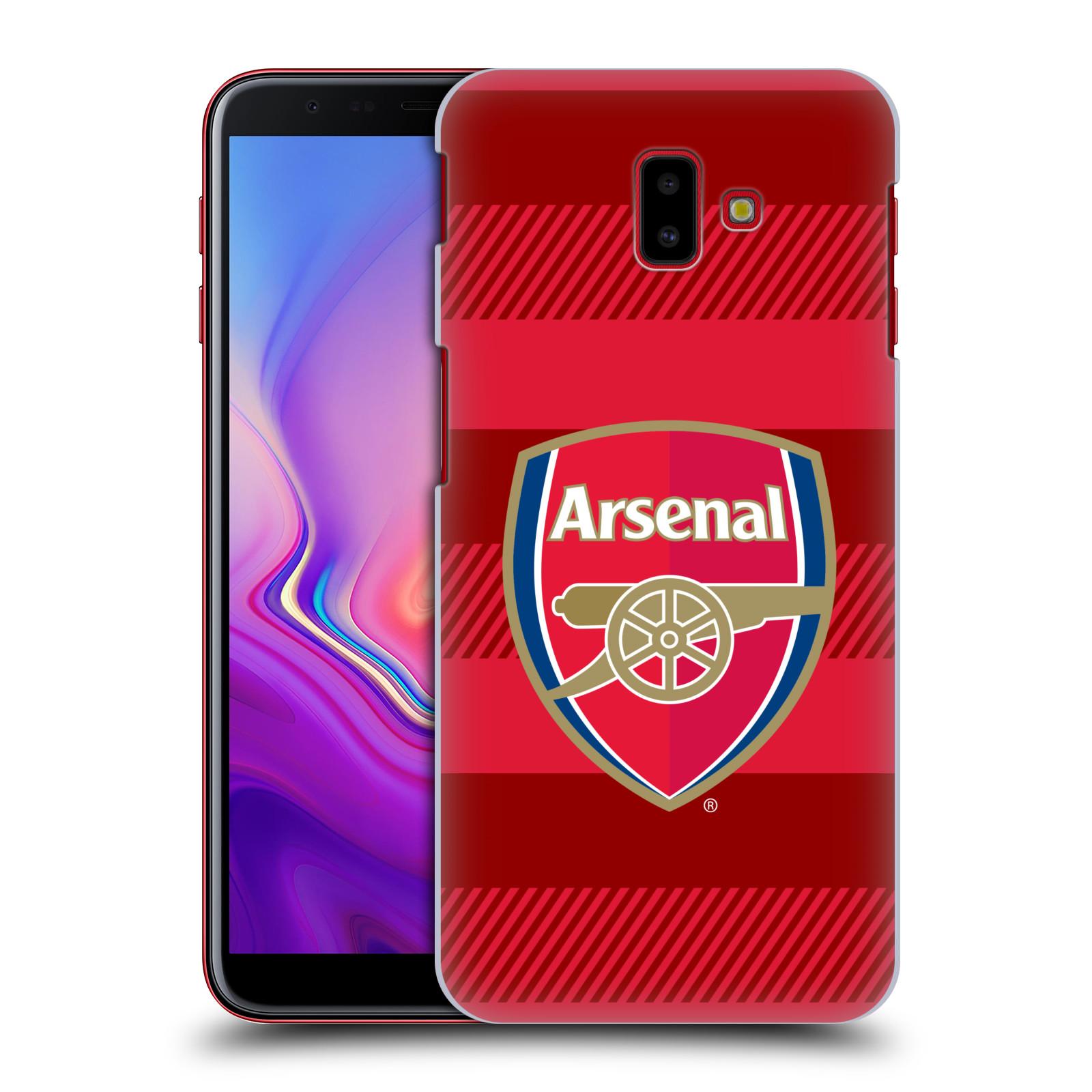 Plastové pouzdro na mobil Samsung Galaxy J6 Plus - Head Case - Arsenal FC - Logo s pruhy