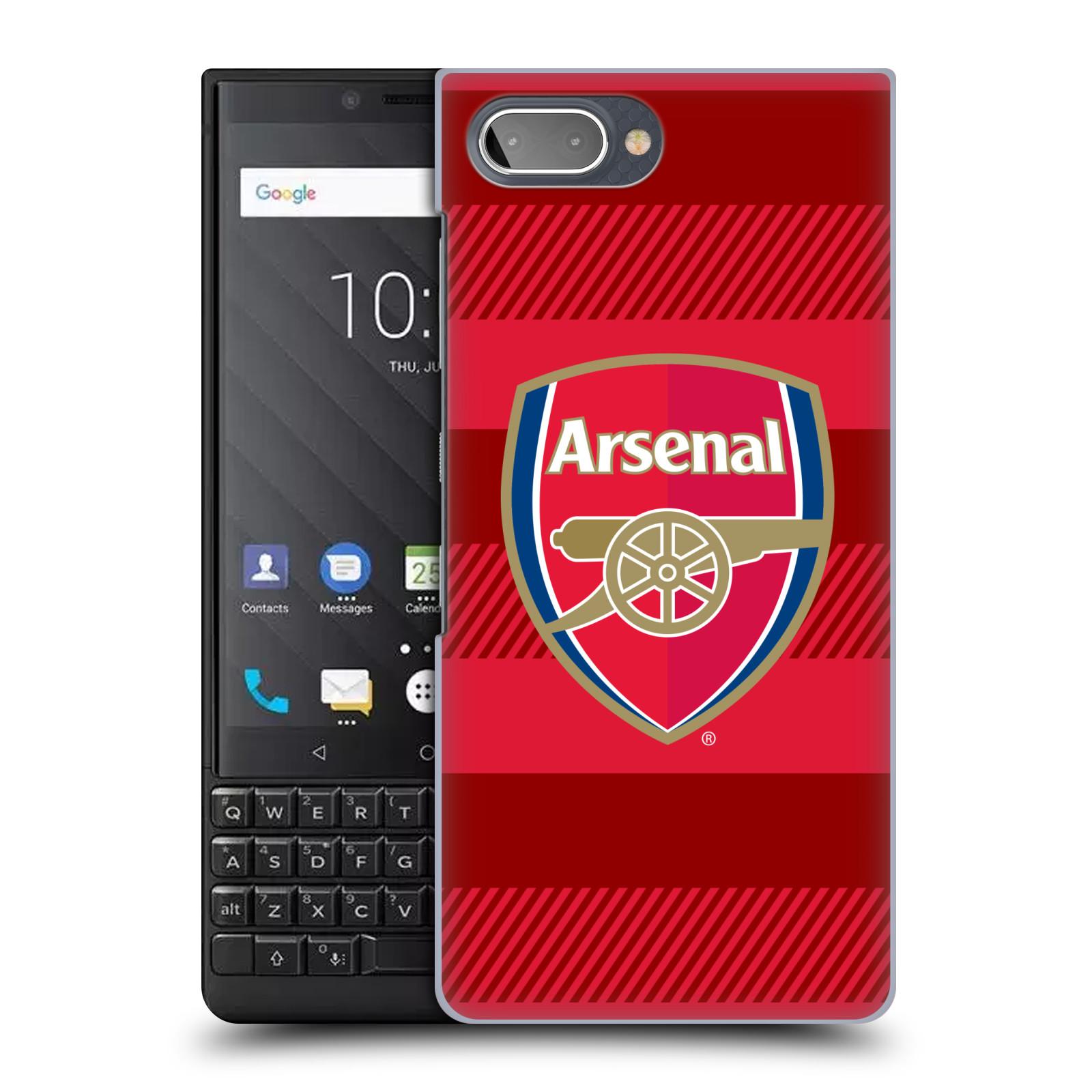 Plastové pouzdro na mobil Blackberry Key 2 - Head Case - Arsenal FC - Logo s pruhy