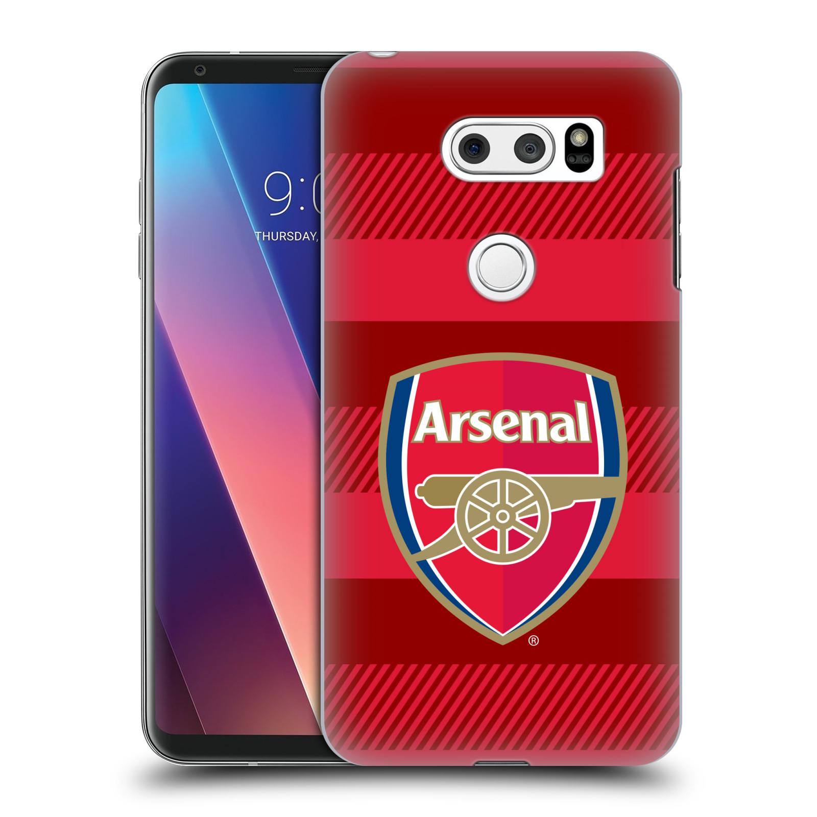 Plastové pouzdro na mobil LG V30 - Head Case - Arsenal FC - Logo s pruhy