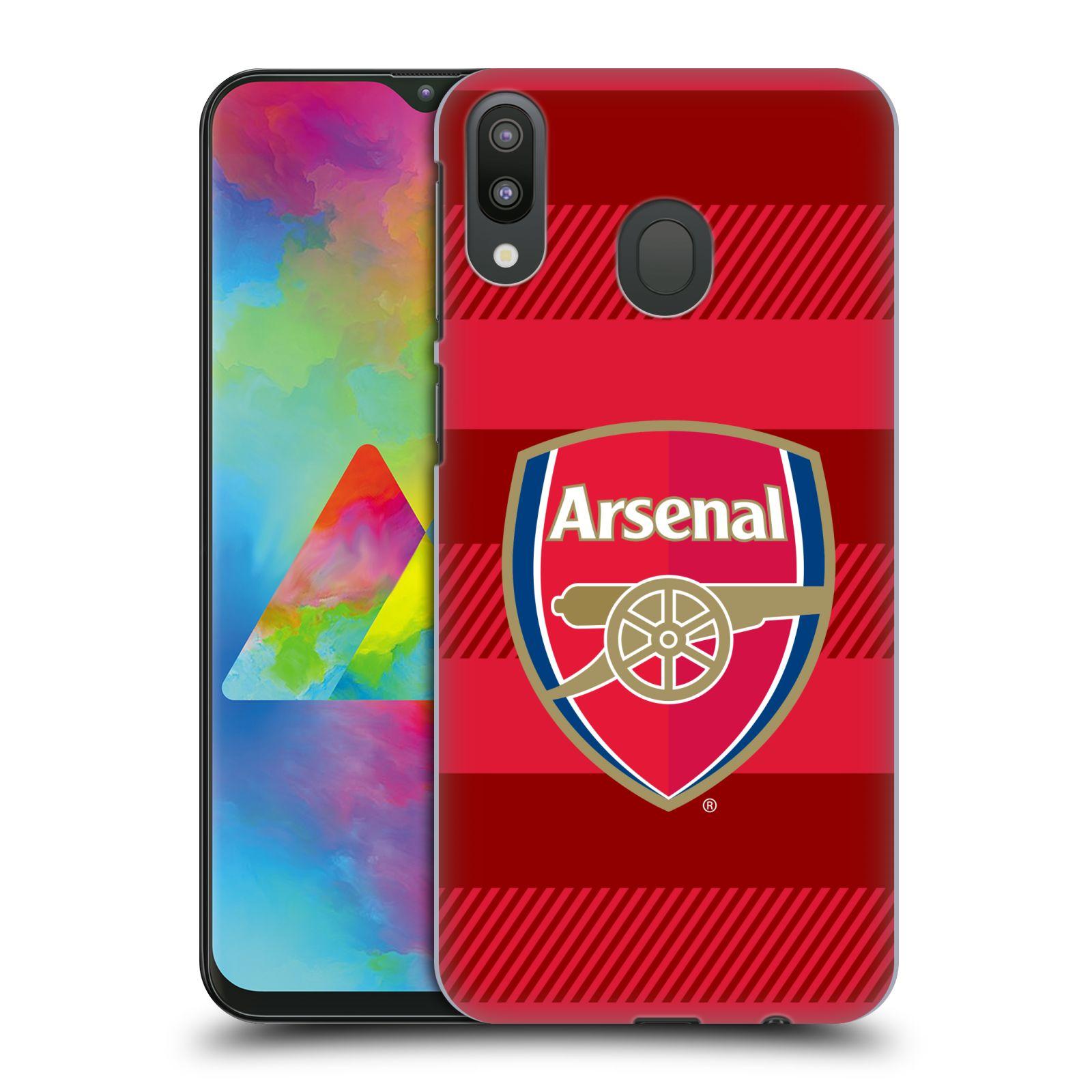 Plastové pouzdro na mobil Samsung Galaxy M20 - Head Case - Arsenal FC - Logo s pruhy