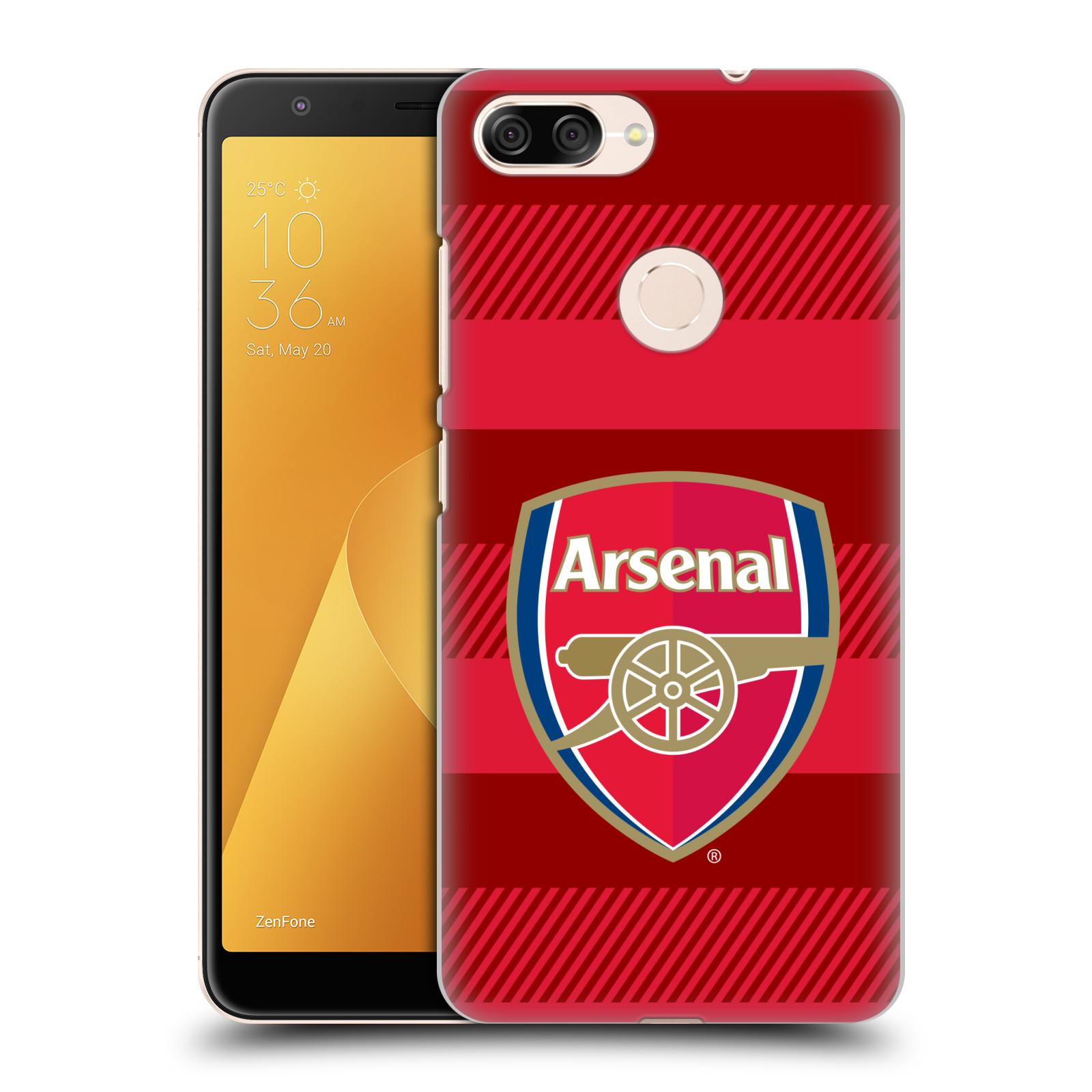Plastové pouzdro na mobil Asus ZenFone Max Plus (M1) - Head Case - Arsenal FC - Logo s pruhy