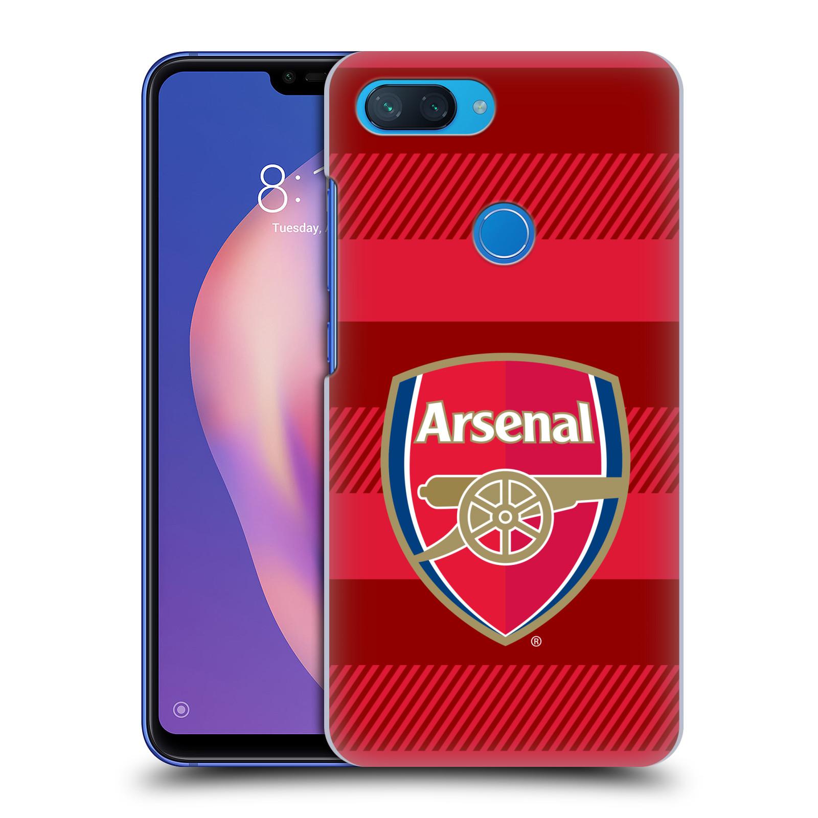 Plastové pouzdro na mobil Xiaomi Mi 8 Lite - Head Case - Arsenal FC - Logo s pruhy