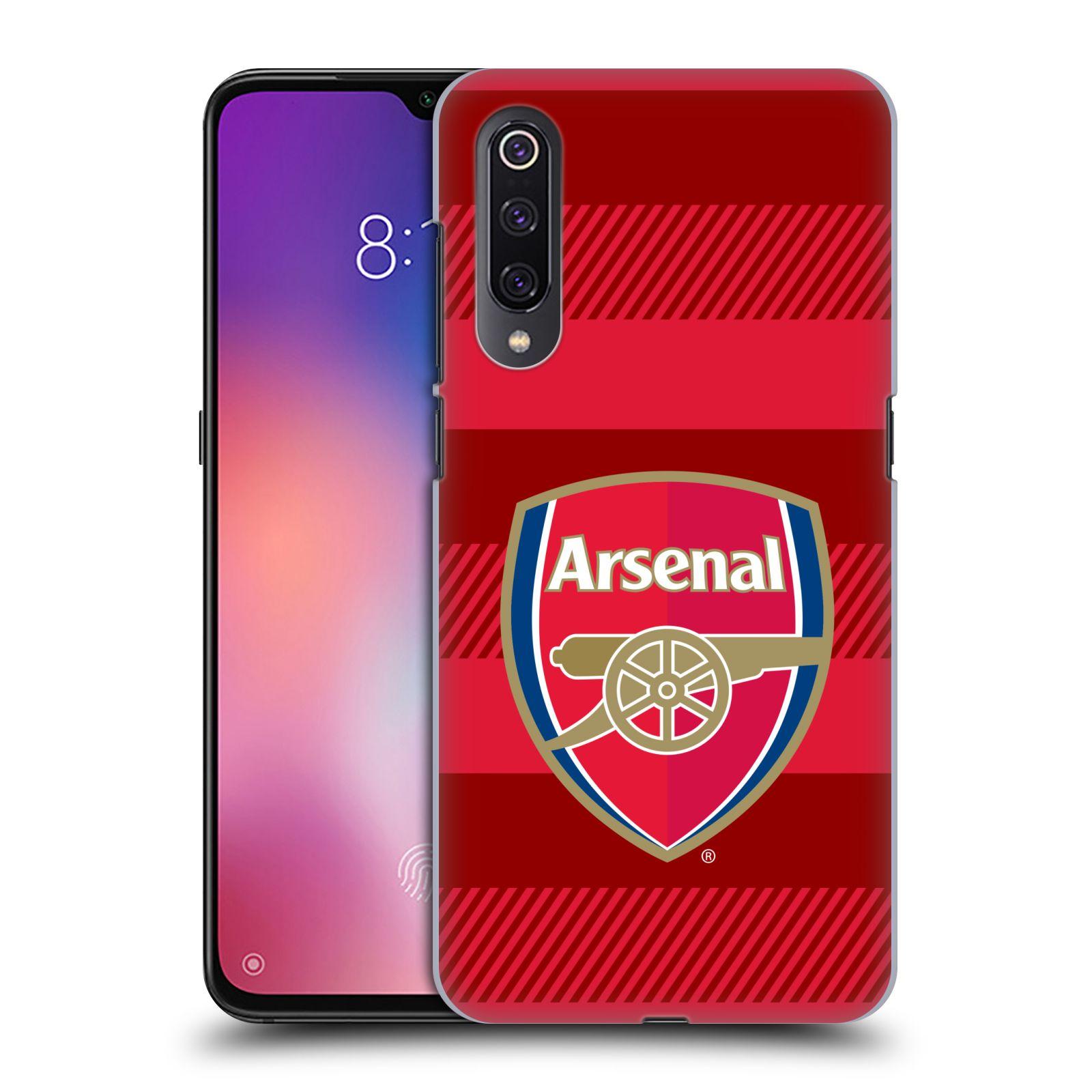 Plastové pouzdro na mobil Xiaomi Mi 9 - Head Case - Arsenal FC - Logo s pruhy
