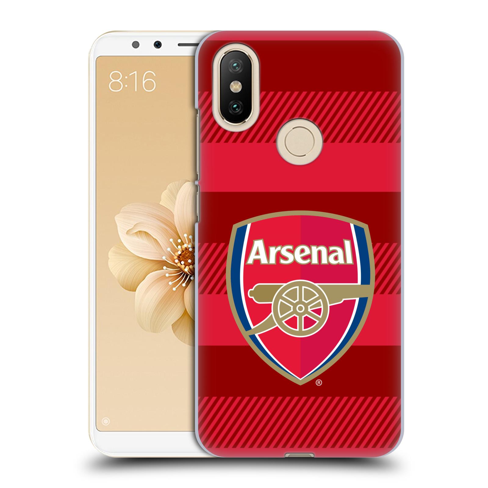 Plastové pouzdro na mobil Xiaomi Mi A2 - Head Case - Arsenal FC - Logo s pruhy