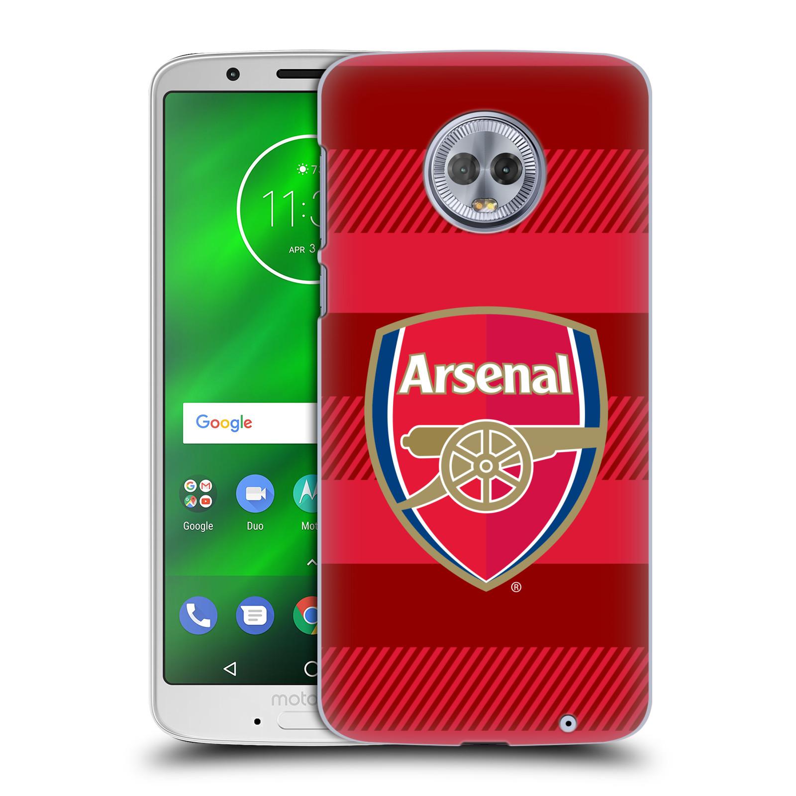 Plastové pouzdro na mobil Motorola Moto G6 Plus - Head Case - Arsenal FC - Logo s pruhy