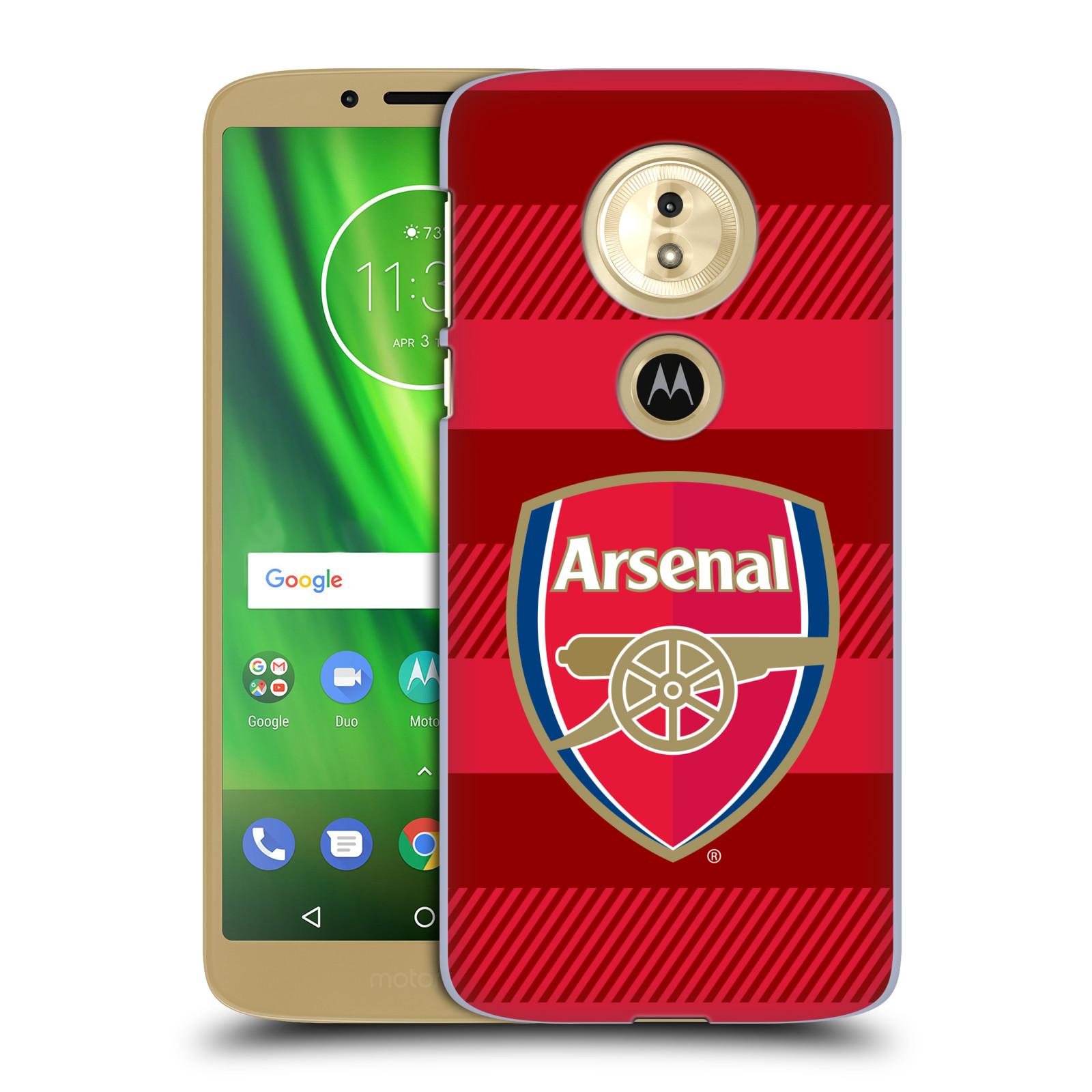Plastové pouzdro na mobil Motorola Moto G6 Play - Head Case - Arsenal FC - Logo s pruhy