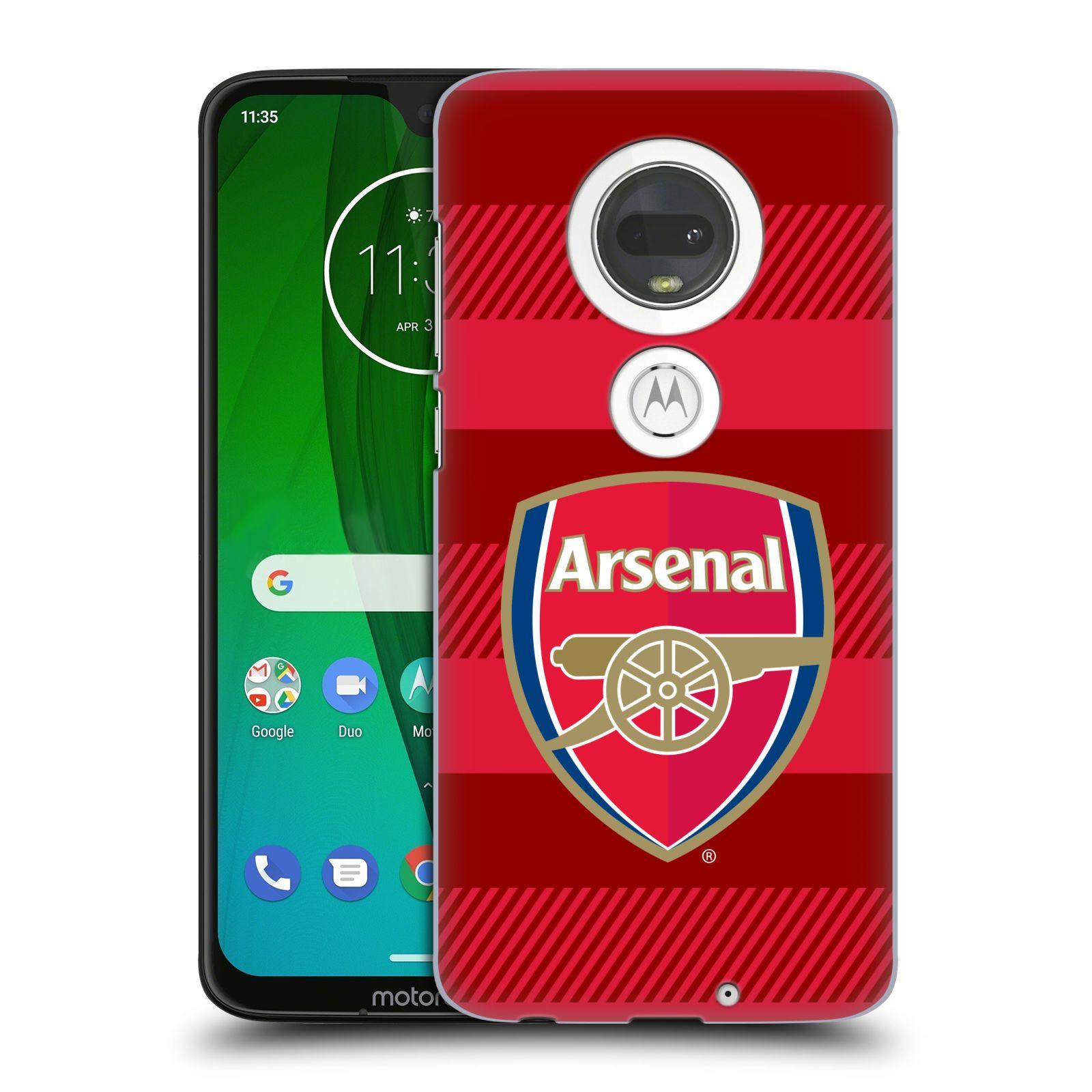 Plastové pouzdro na mobil Motorola Moto G7 - Head Case - Arsenal FC - Logo s pruhy