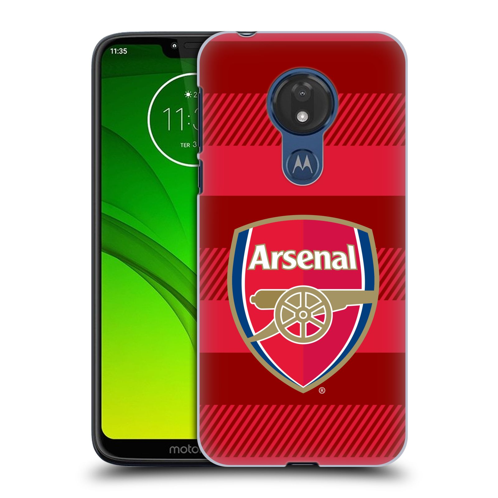Plastové pouzdro na mobil Motorola Moto G7 Power - Head Case - Arsenal FC - Logo s pruhy