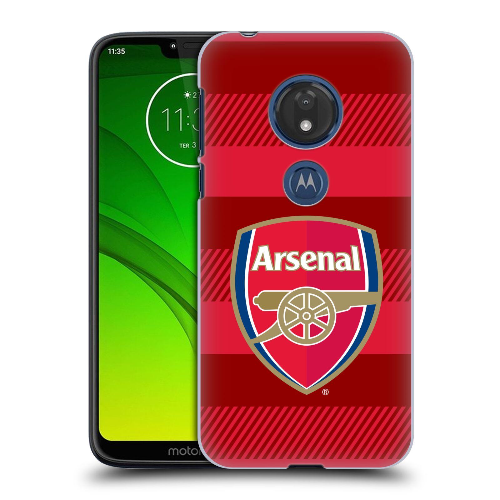 Plastové pouzdro na mobil Motorola Moto G7 Play - Head Case - Arsenal FC - Logo s pruhy
