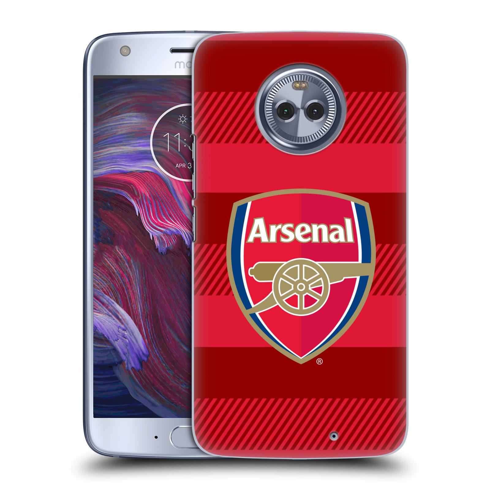 Plastové pouzdro na mobil Lenovo Moto X4 - Head Case - Arsenal FC - Logo s pruhy