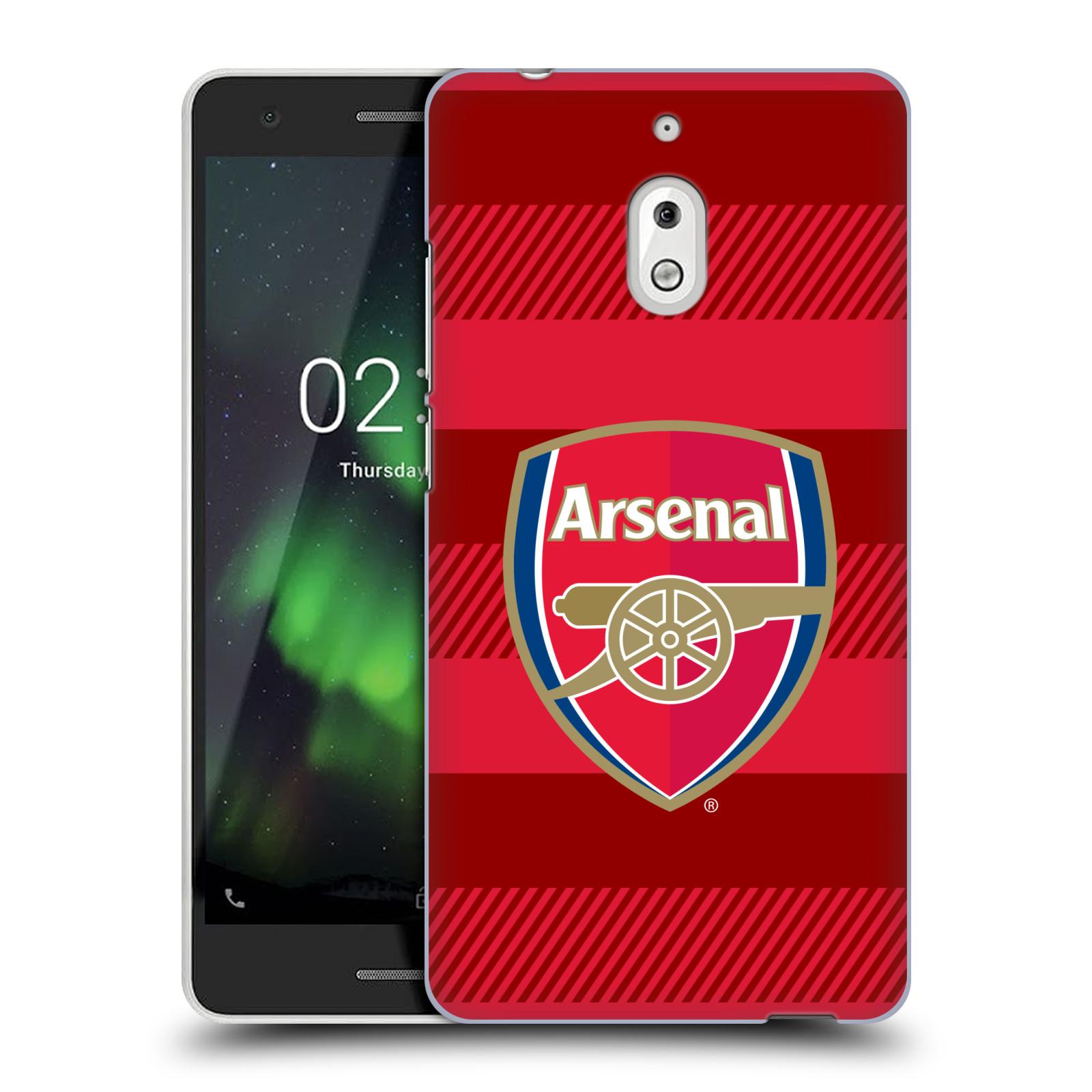Plastové pouzdro na mobil Nokia 2.1 - Head Case - Arsenal FC - Logo s pruhy