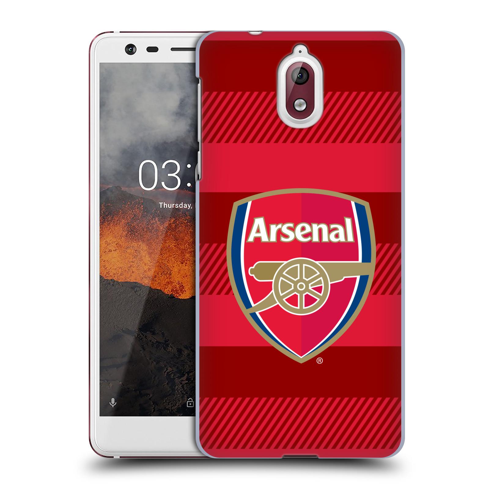 Plastové pouzdro na mobil Nokia 3.1 - Head Case - Arsenal FC - Logo s pruhy