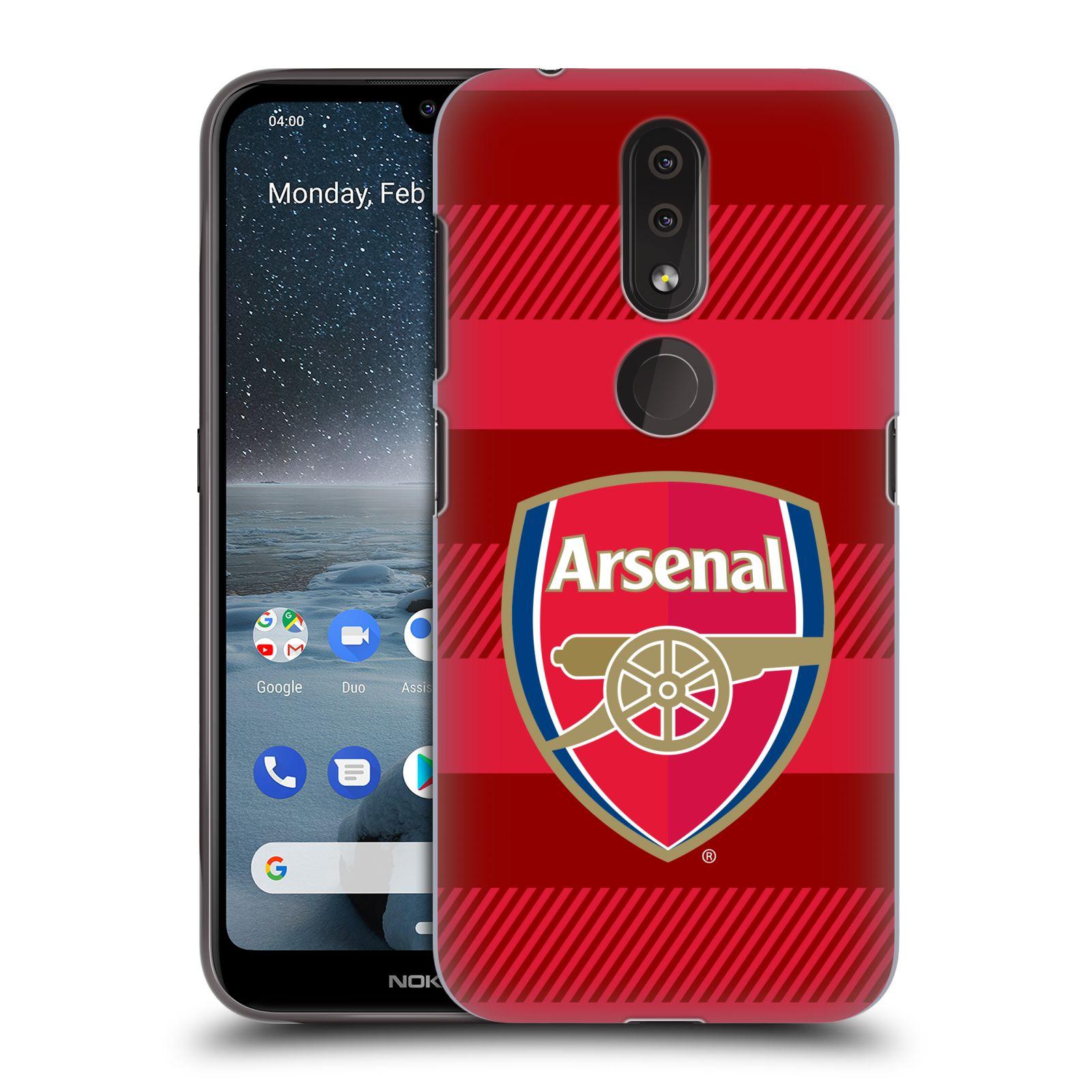Plastové pouzdro na mobil Nokia 4.2 - Head Case - Arsenal FC - Logo s pruhy