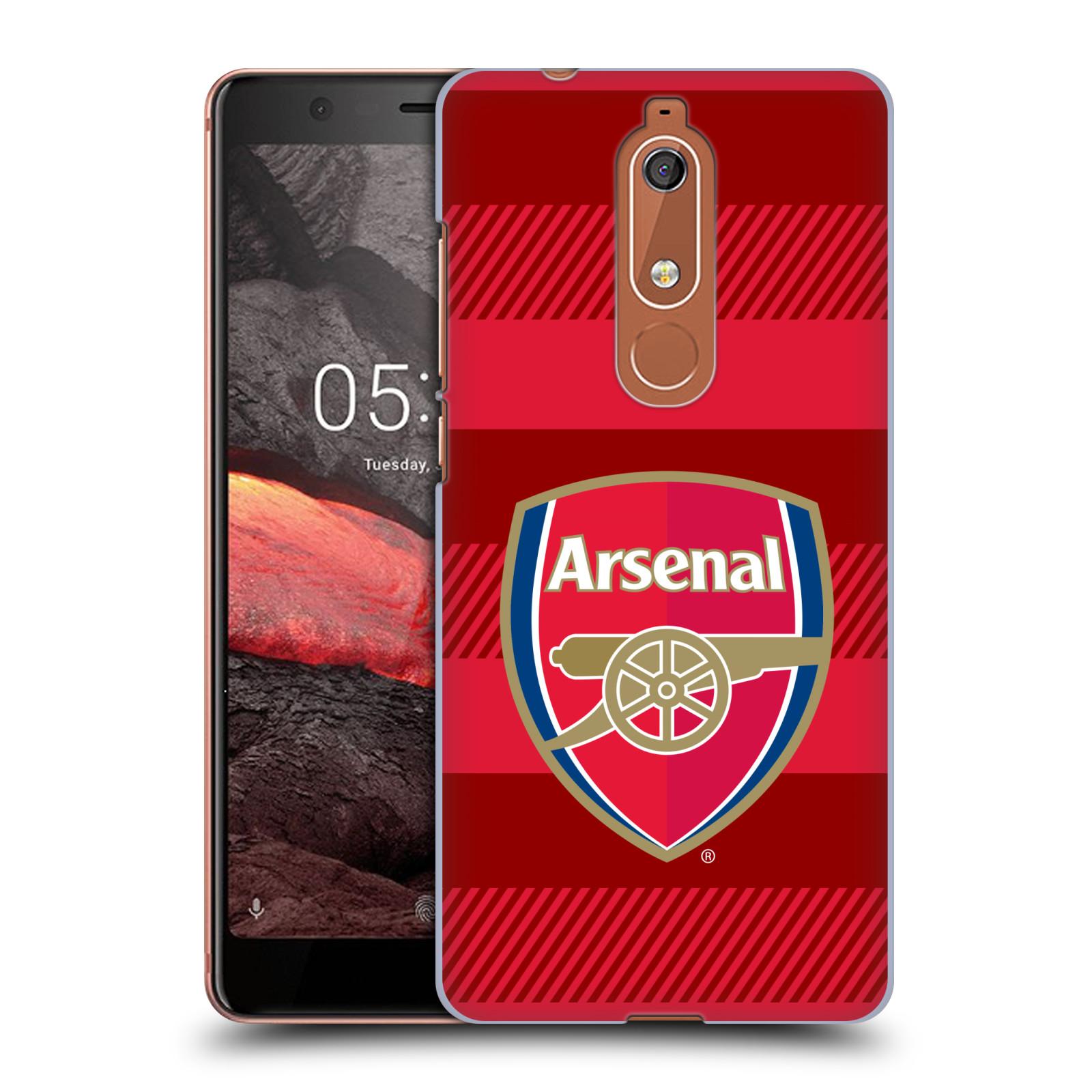 Plastové pouzdro na mobil Nokia 5.1 - Head Case - Arsenal FC - Logo s pruhy