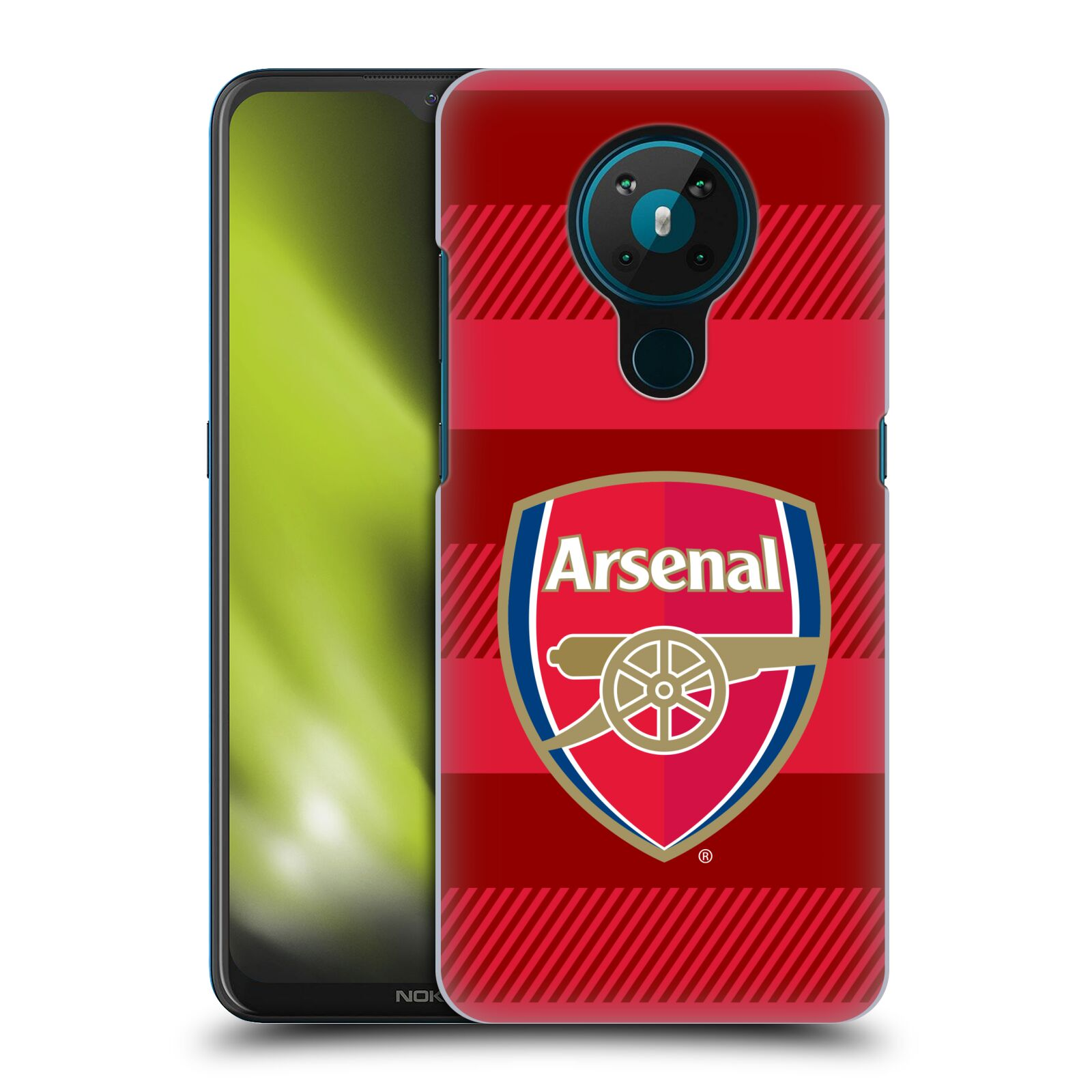 Plastové pouzdro na mobil Nokia 5.3 - Head Case - Arsenal FC - Logo s pruhy
