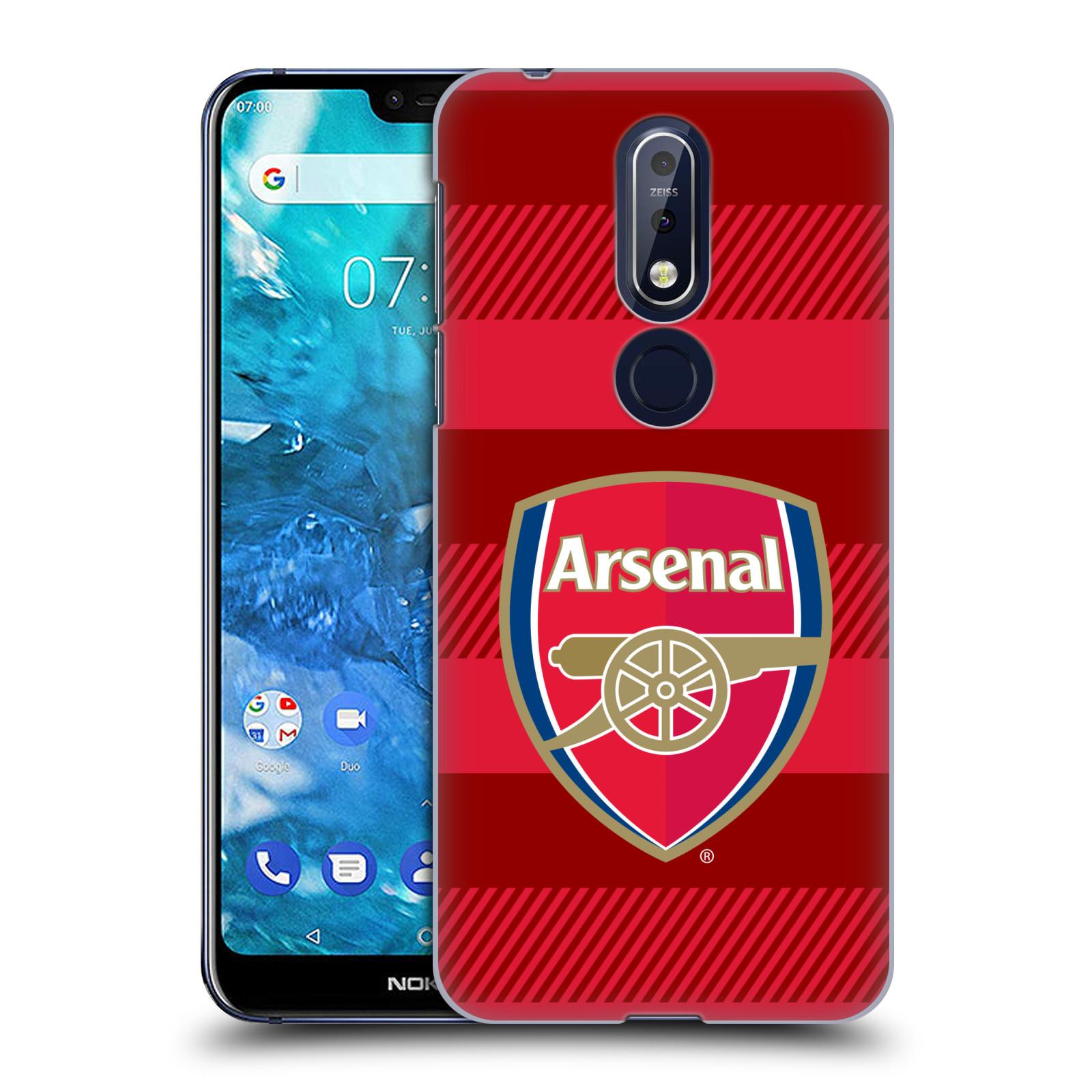 Plastové pouzdro na mobil Nokia 7.1 - Head Case - Arsenal FC - Logo s pruhy