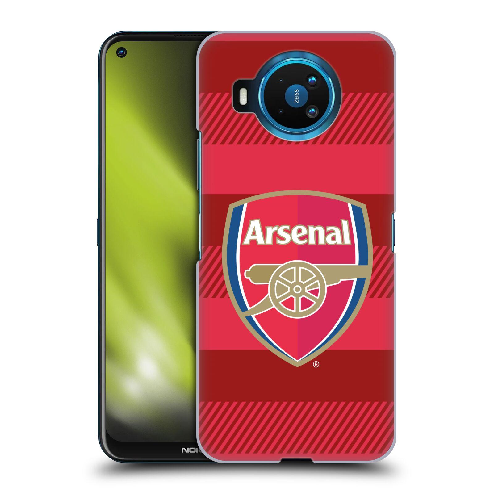 Plastové pouzdro na mobil Nokia 8.3 5G - Head Case - Arsenal FC - Logo s pruhy