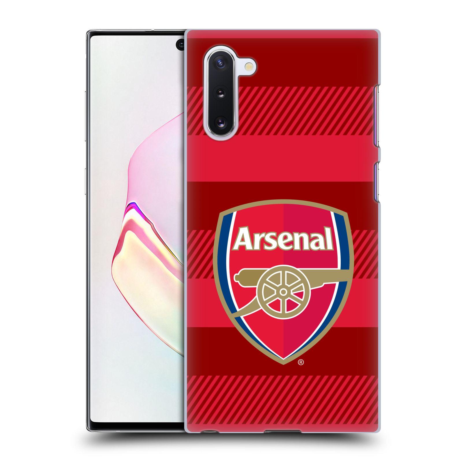 Plastové pouzdro na mobil Samsung Galaxy Note 10 - Head Case - Arsenal FC - Logo s pruhy