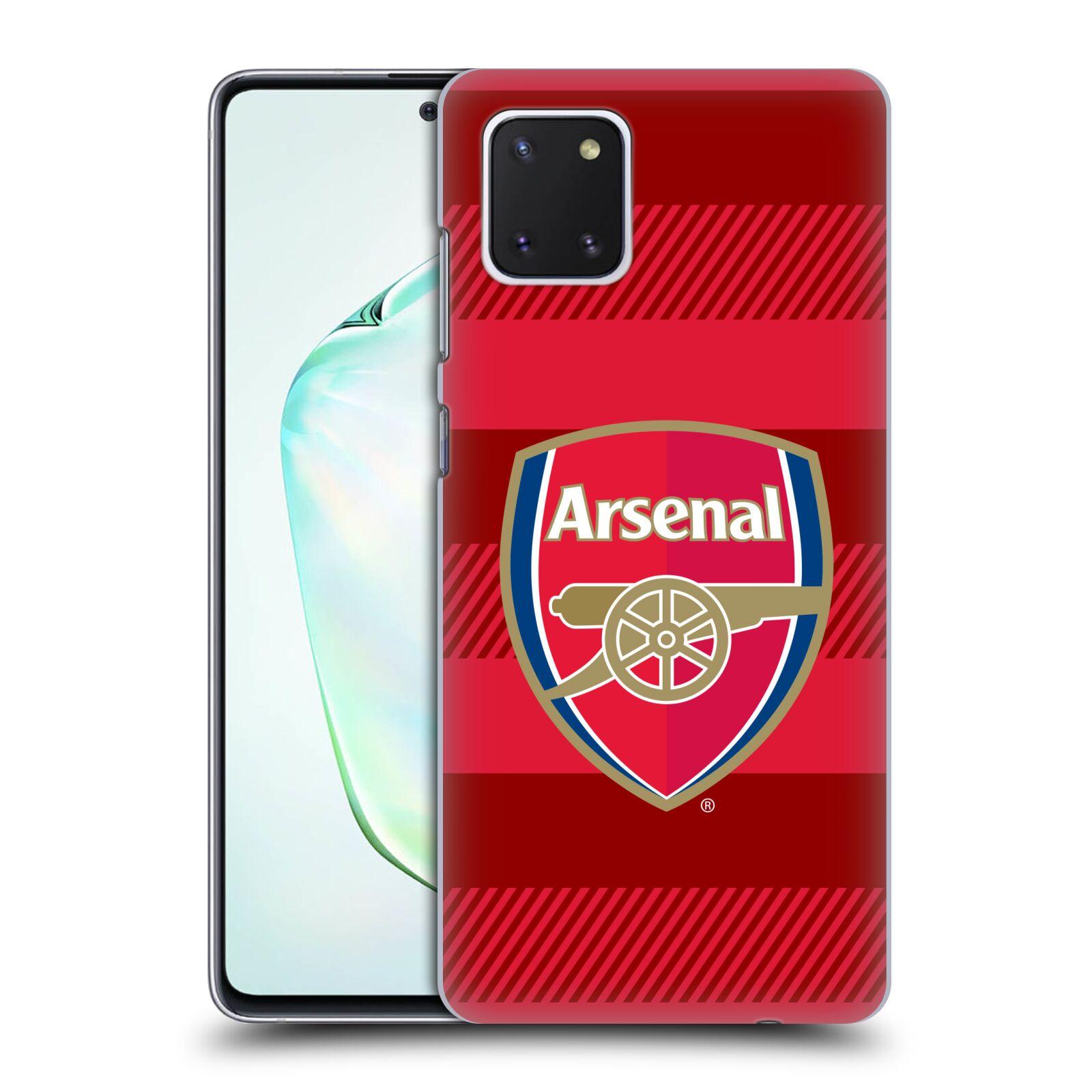 Plastové pouzdro na mobil Samsung Galaxy Note 10 Lite - Head Case - Arsenal FC - Logo s pruhy