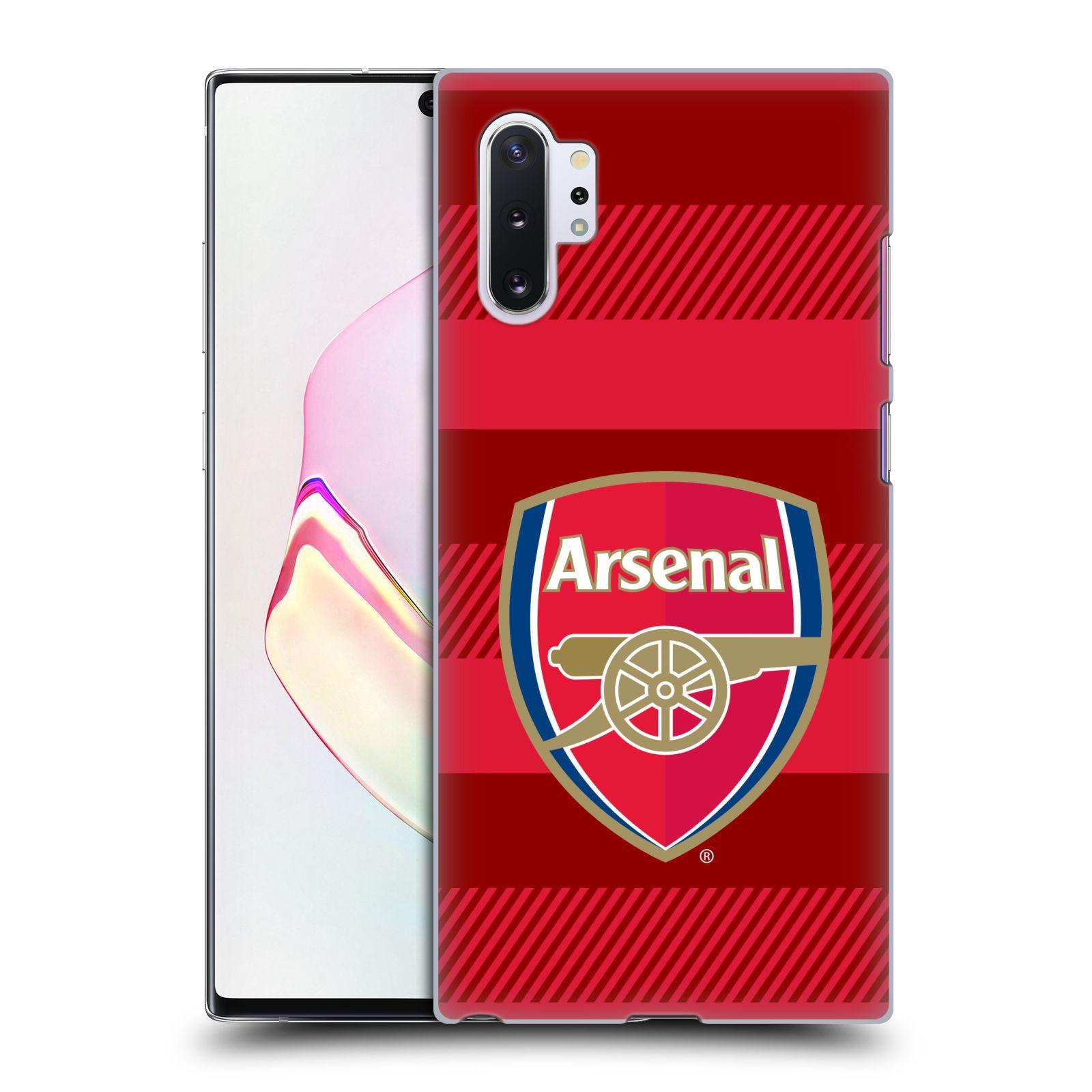 Plastové pouzdro na mobil Samsung Galaxy Note 10 Plus - Head Case - Arsenal FC - Logo s pruhy