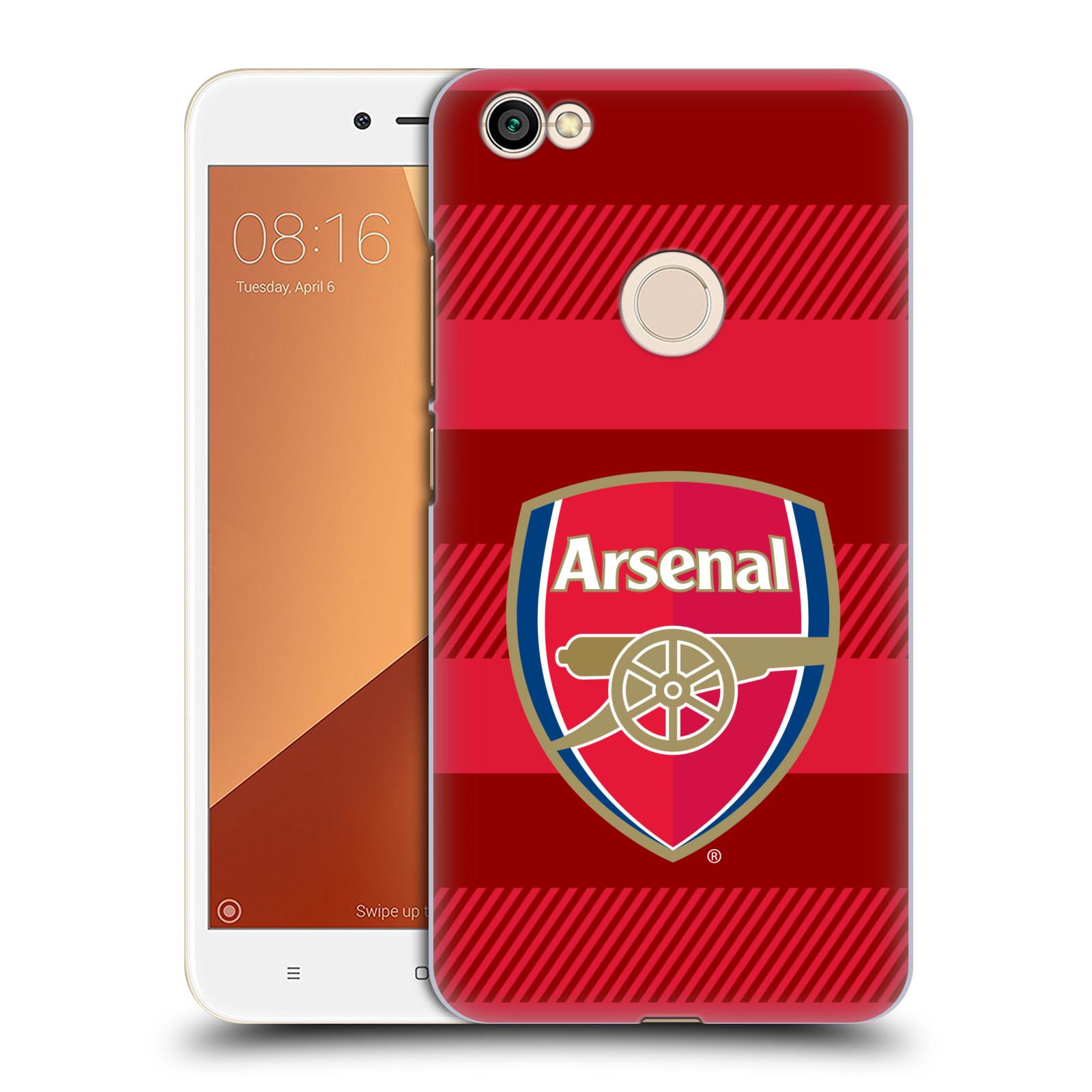 Plastové pouzdro na mobil Xiaomi Redmi Note 5A Prime - Head Case - Arsenal FC - Logo s pruhy