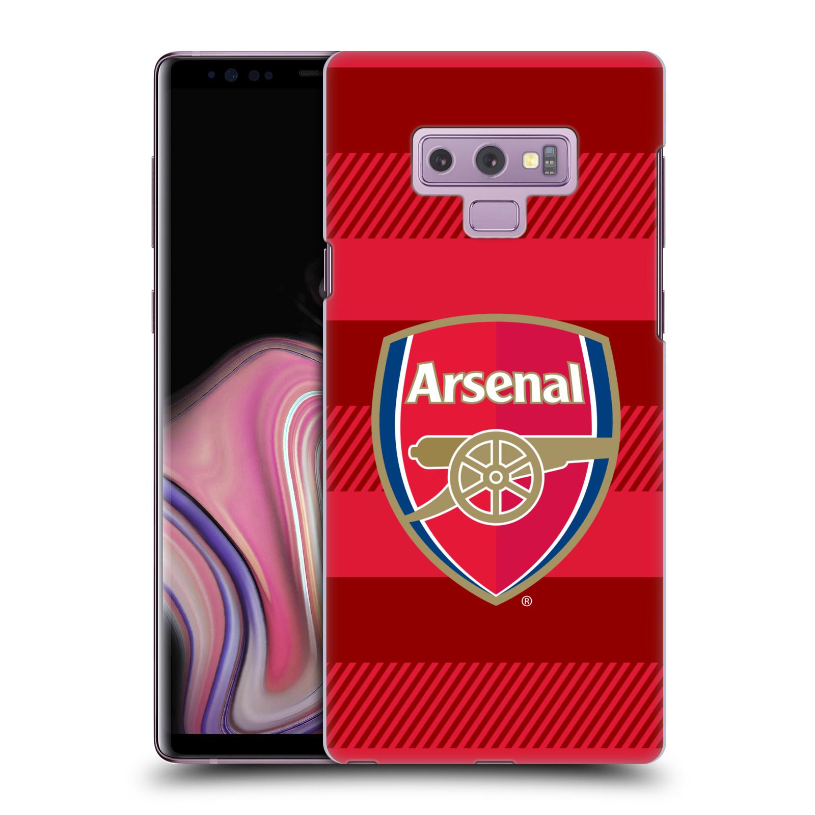 Plastové pouzdro na mobil Samsung Galaxy Note 9 - Head Case - Arsenal FC - Logo s pruhy