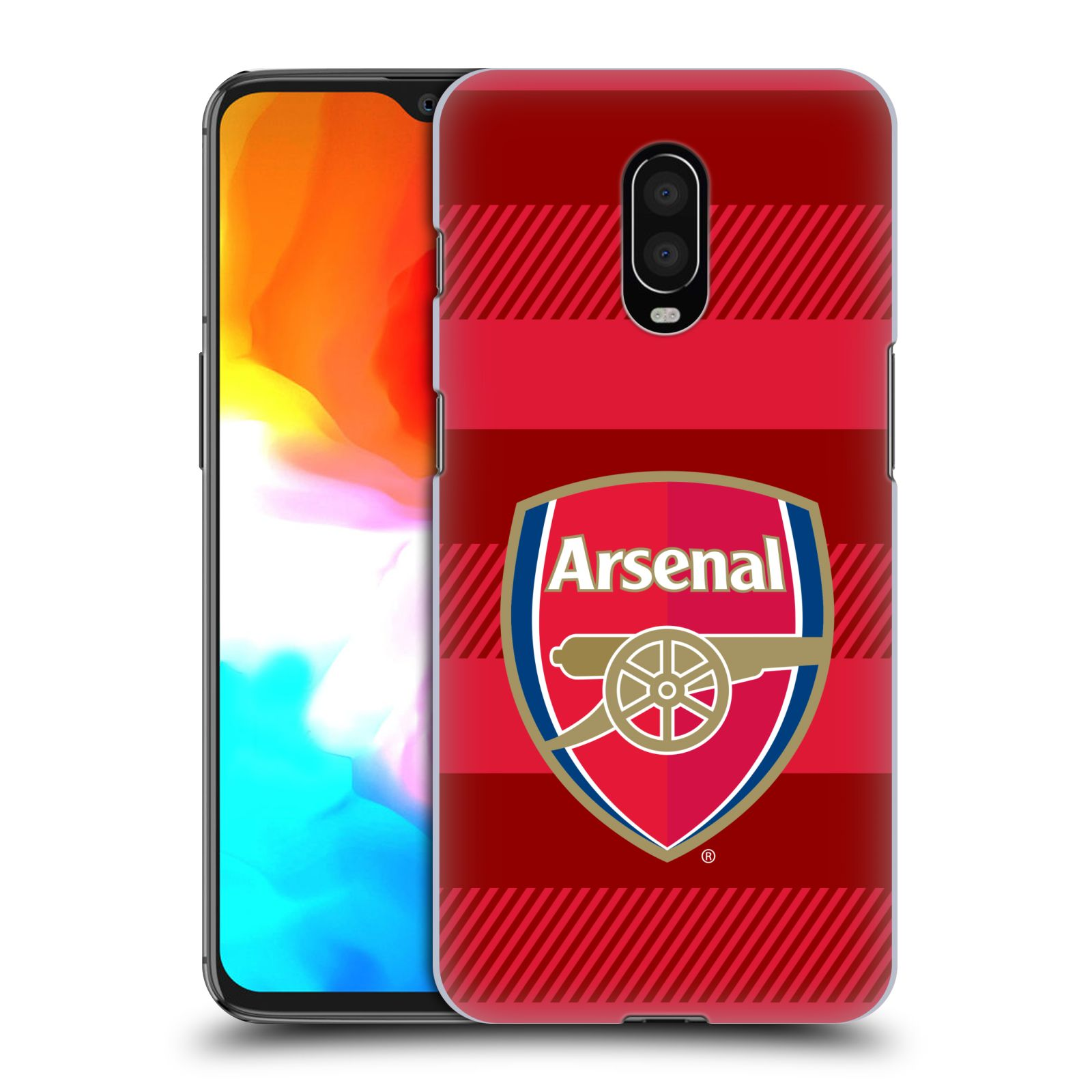 Plastové pouzdro na mobil OnePlus 6T - Head Case - Arsenal FC - Logo s pruhy