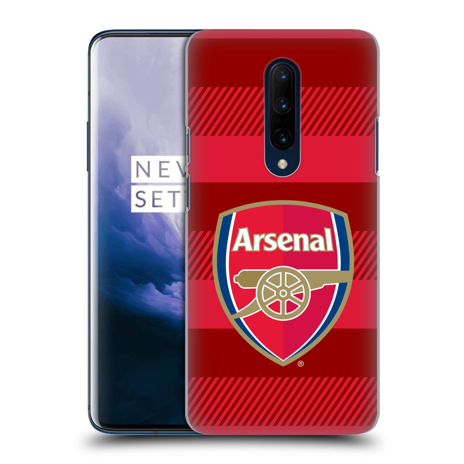 Plastové pouzdro na mobil OnePlus 7 Pro - Head Case - Arsenal FC - Logo s pruhy