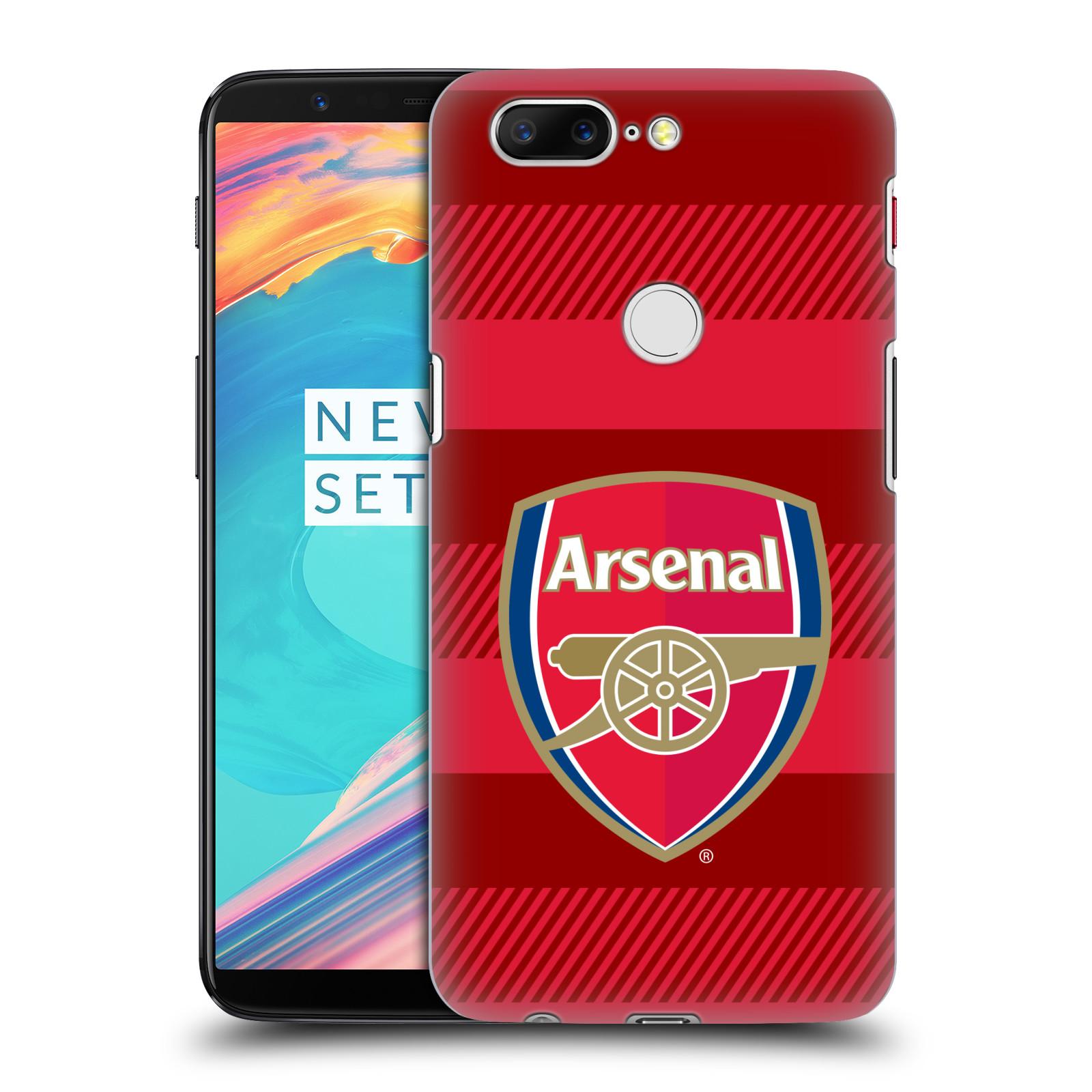 Plastové pouzdro na mobil OnePlus 5T - Head Case - Arsenal FC - Logo s pruhy
