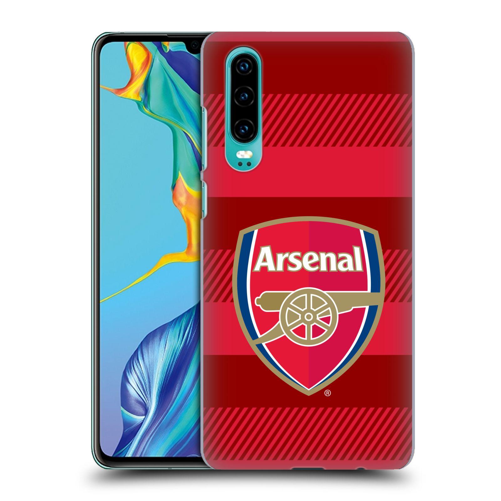 Plastové pouzdro na mobil Huawei P30 - Head Case - Arsenal FC - Logo s pruhy