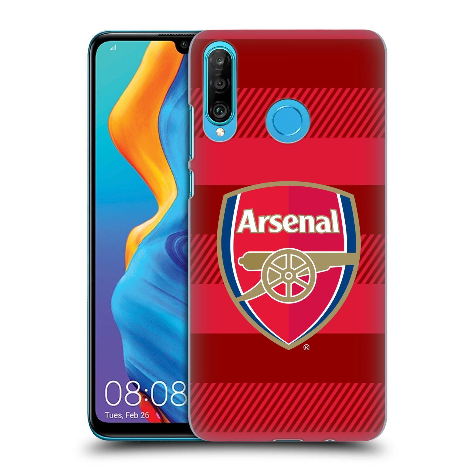 Plastové pouzdro na mobil Huawei P30 Lite - Head Case - Arsenal FC - Logo s pruhy
