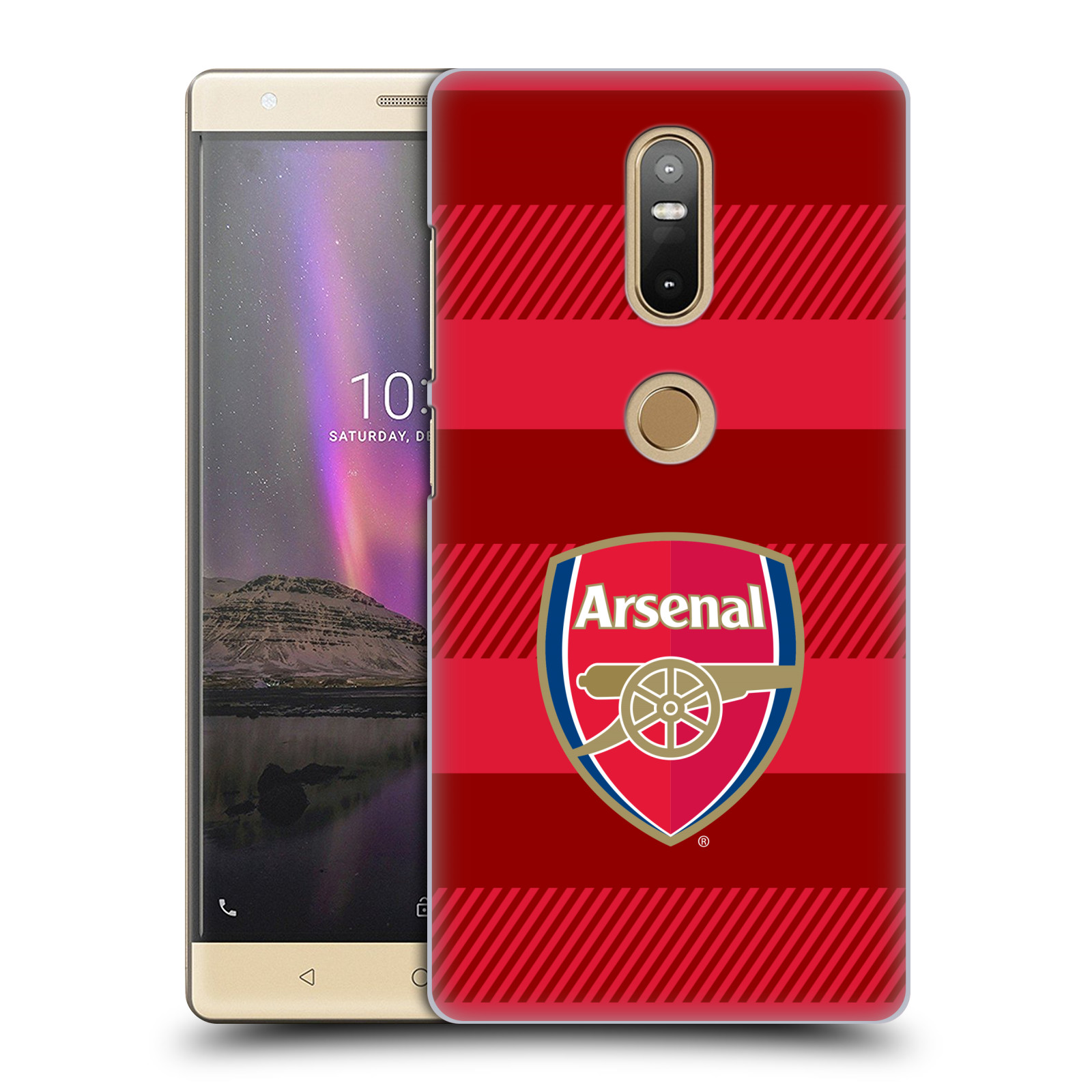 Plastové pouzdro na mobil Lenovo Phab 2 Plus - Head Case - Arsenal FC - Logo s pruhy