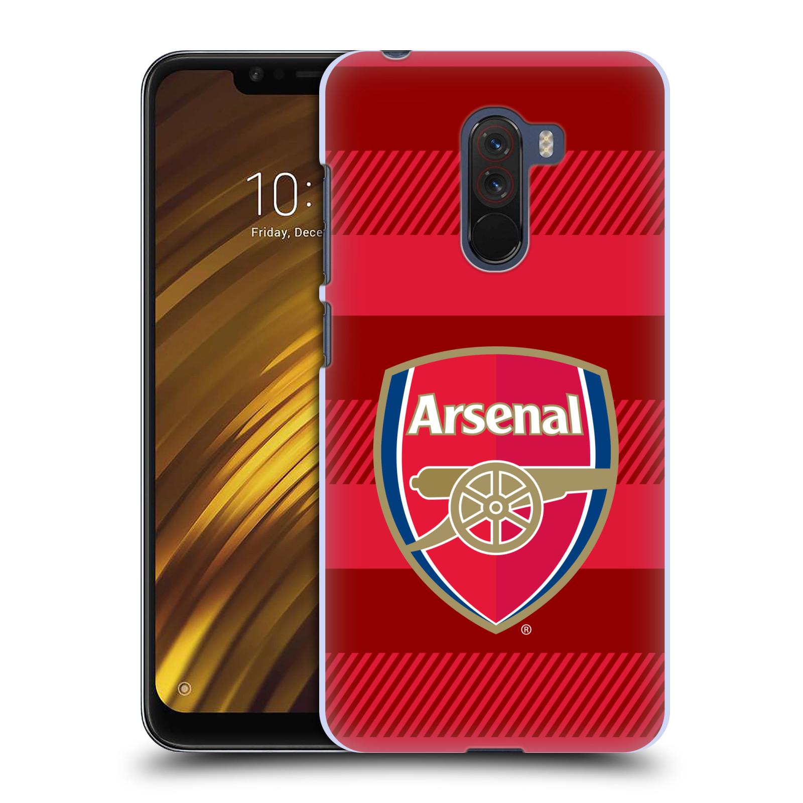 Plastové pouzdro na mobil Xiaomi Pocophone F1 - Head Case - Arsenal FC - Logo s pruhy