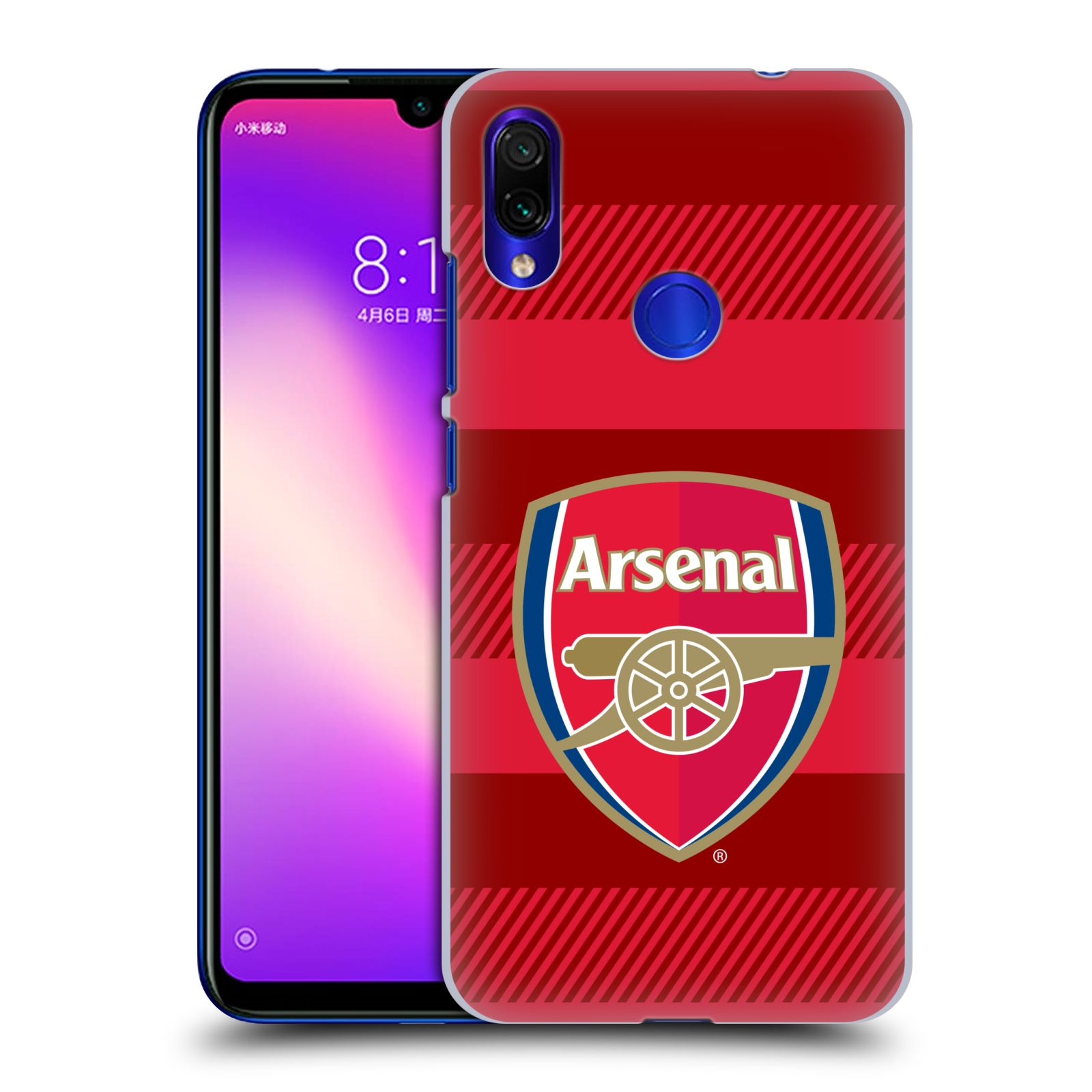 Plastové pouzdro na mobil Xiaomi Redmi Note 7 - Head Case - Arsenal FC - Logo s pruhy