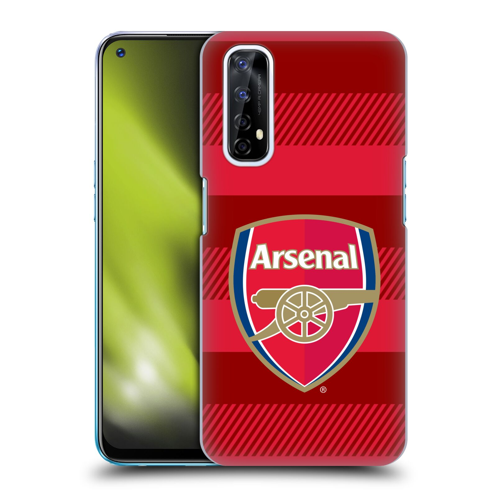 Plastové pouzdro na mobil Realme 7 - Head Case - Arsenal FC - Logo s pruhy