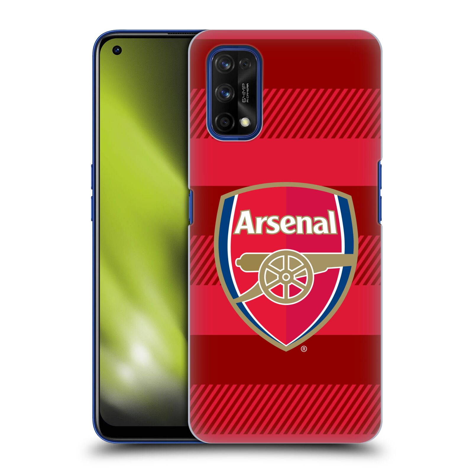Plastové pouzdro na mobil Realme 7 Pro - Head Case - Arsenal FC - Logo s pruhy