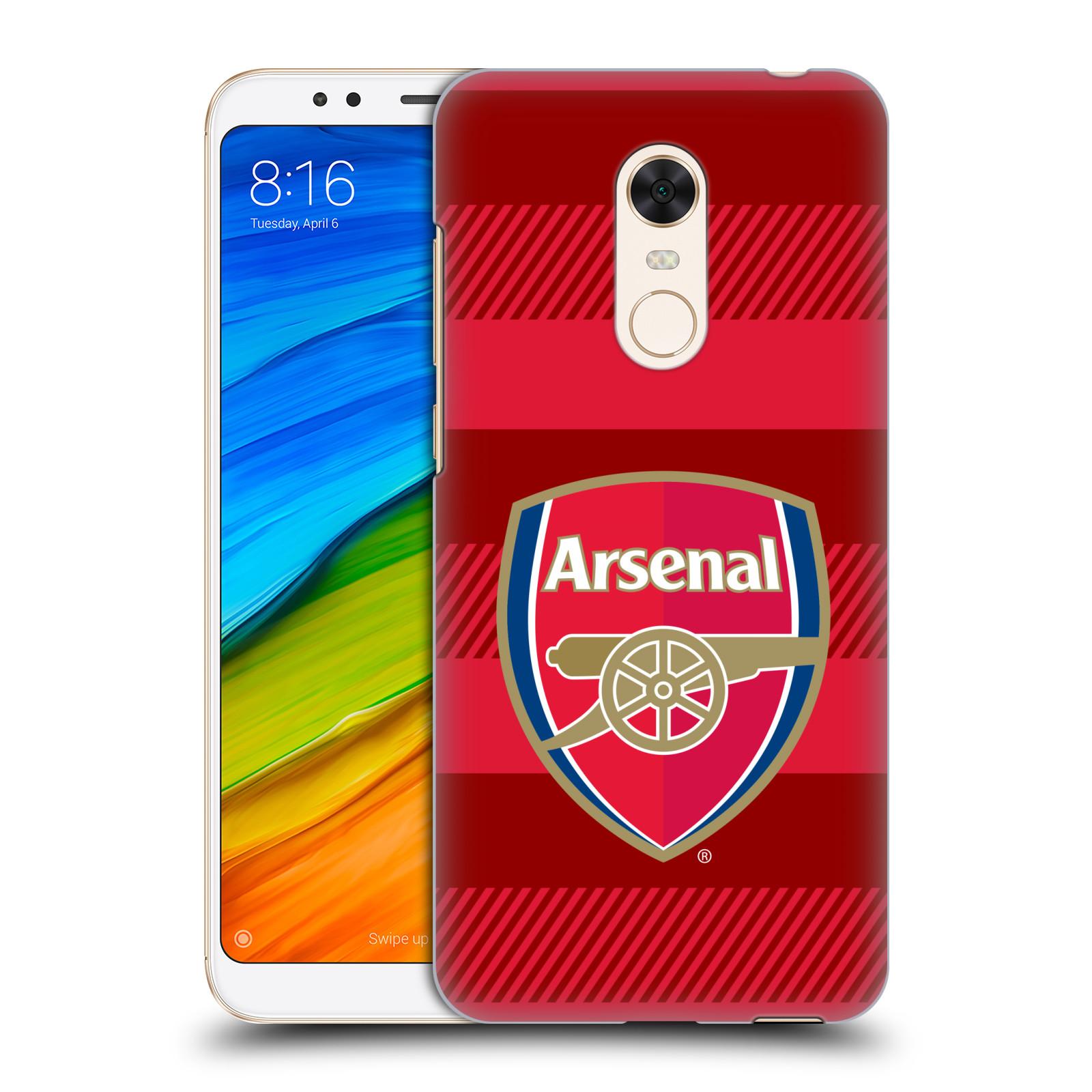 Plastové pouzdro na mobil Xiaomi Redmi 5 Plus - Head Case - Arsenal FC - Logo s pruhy
