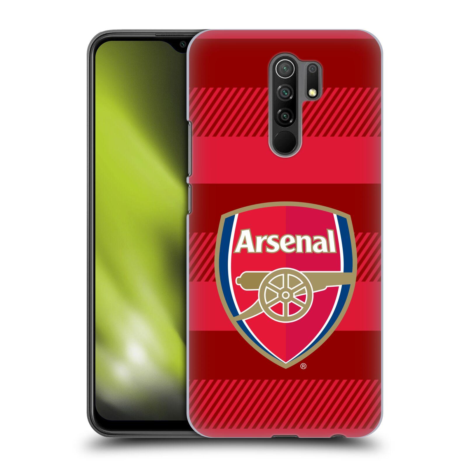 Plastové pouzdro na mobil Xiaomi Redmi 9 - Head Case - Arsenal FC - Logo s pruhy