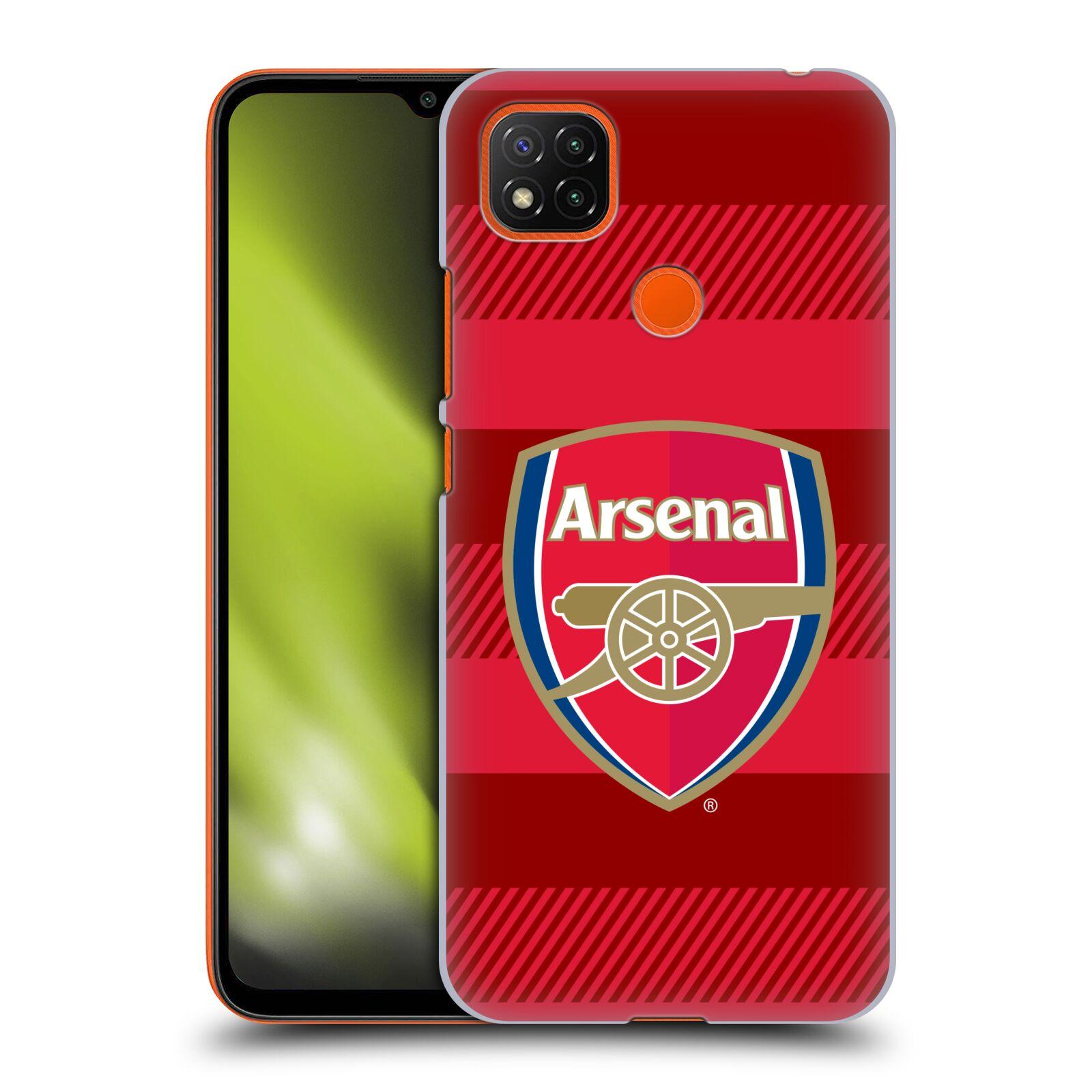 Plastové pouzdro na mobil Xiaomi Redmi 9C - Head Case - Arsenal FC - Logo s pruhy
