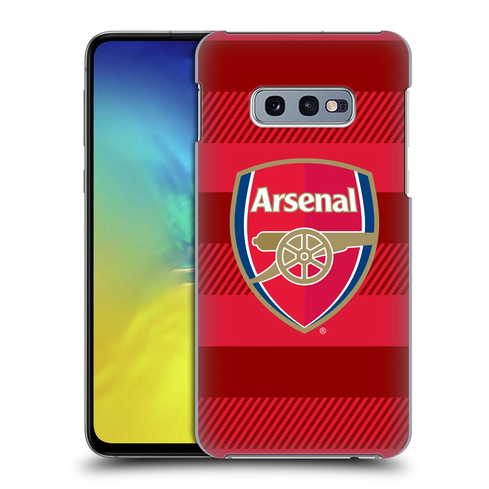 Plastové pouzdro na mobil Samsung Galaxy S10e - Head Case - Arsenal FC - Logo s pruhy