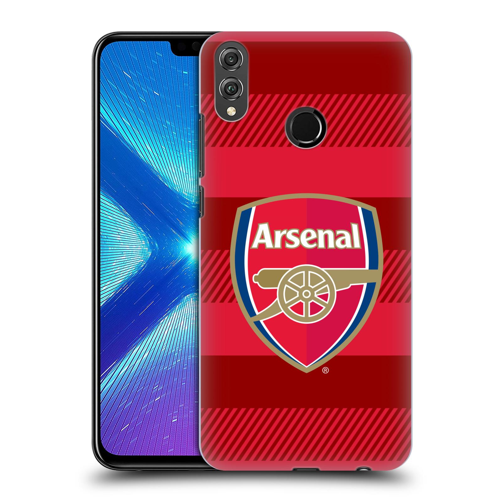 Plastové pouzdro na mobil Honor 8X - Head Case - Arsenal FC - Logo s pruhy