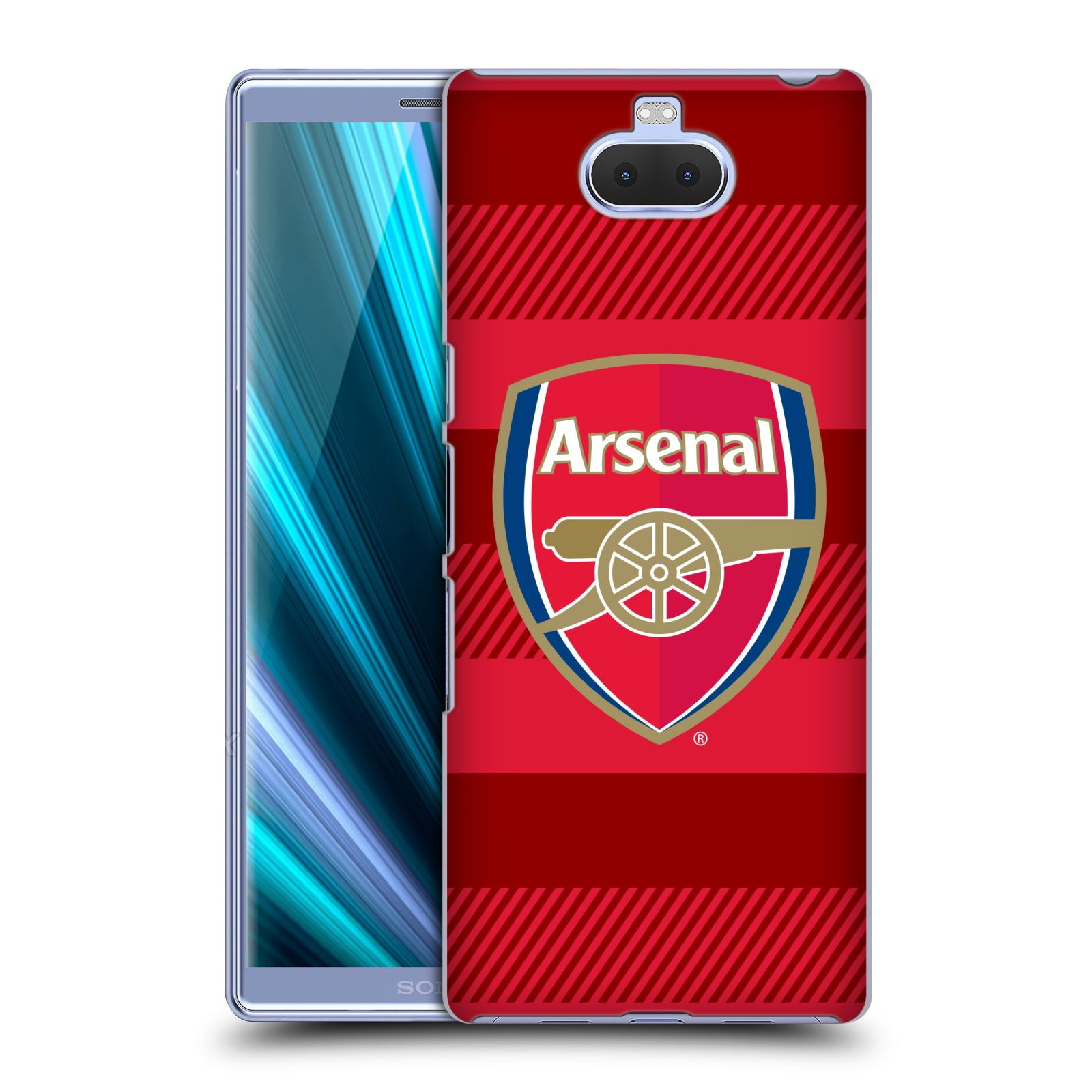 Plastové pouzdro na mobil Sony Xperia 10 Plus - Head Case - Arsenal FC - Logo s pruhy