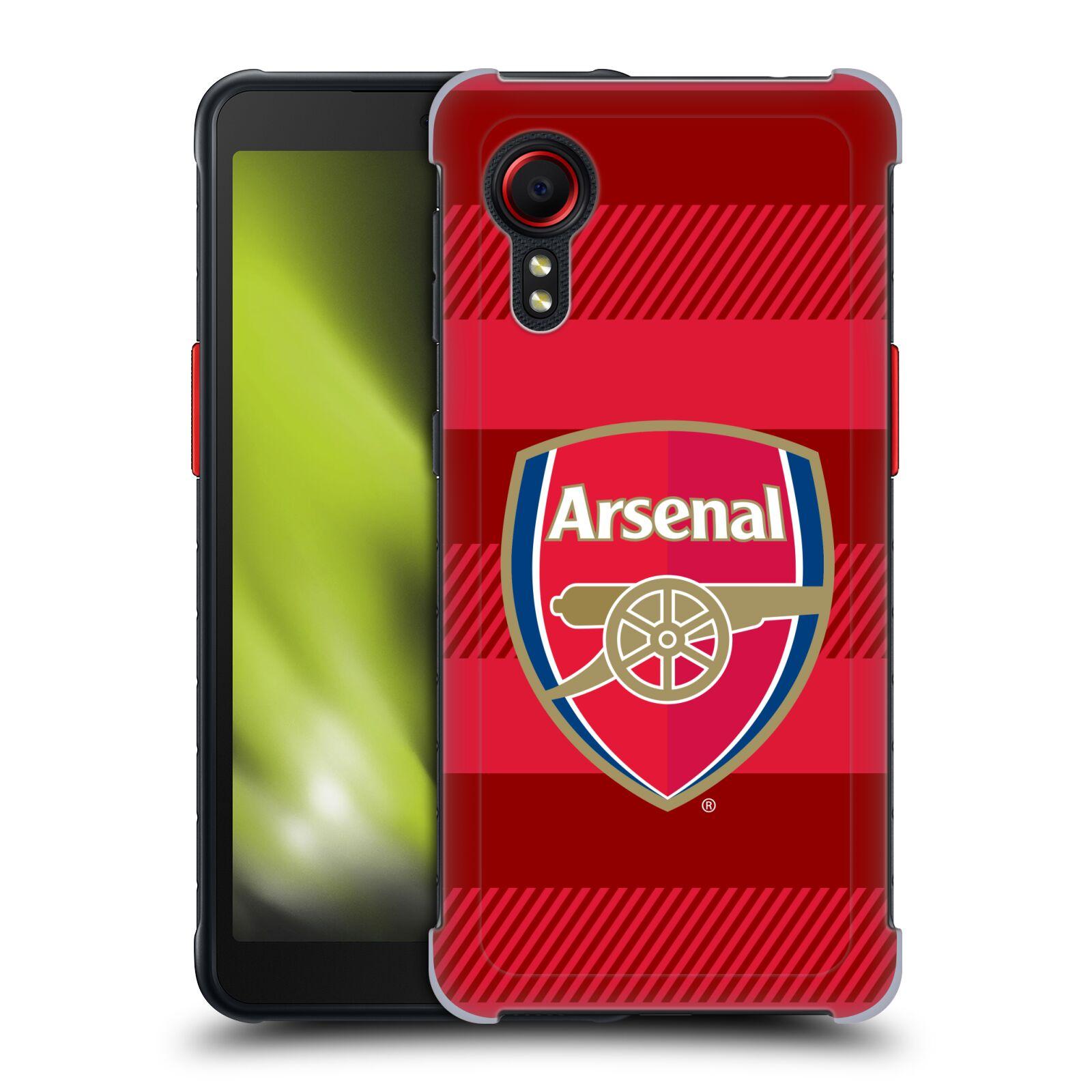 Plastové pouzdro na mobil Samsung Galaxy Xcover 5 - Head Case - Arsenal FC - Logo s pruhy