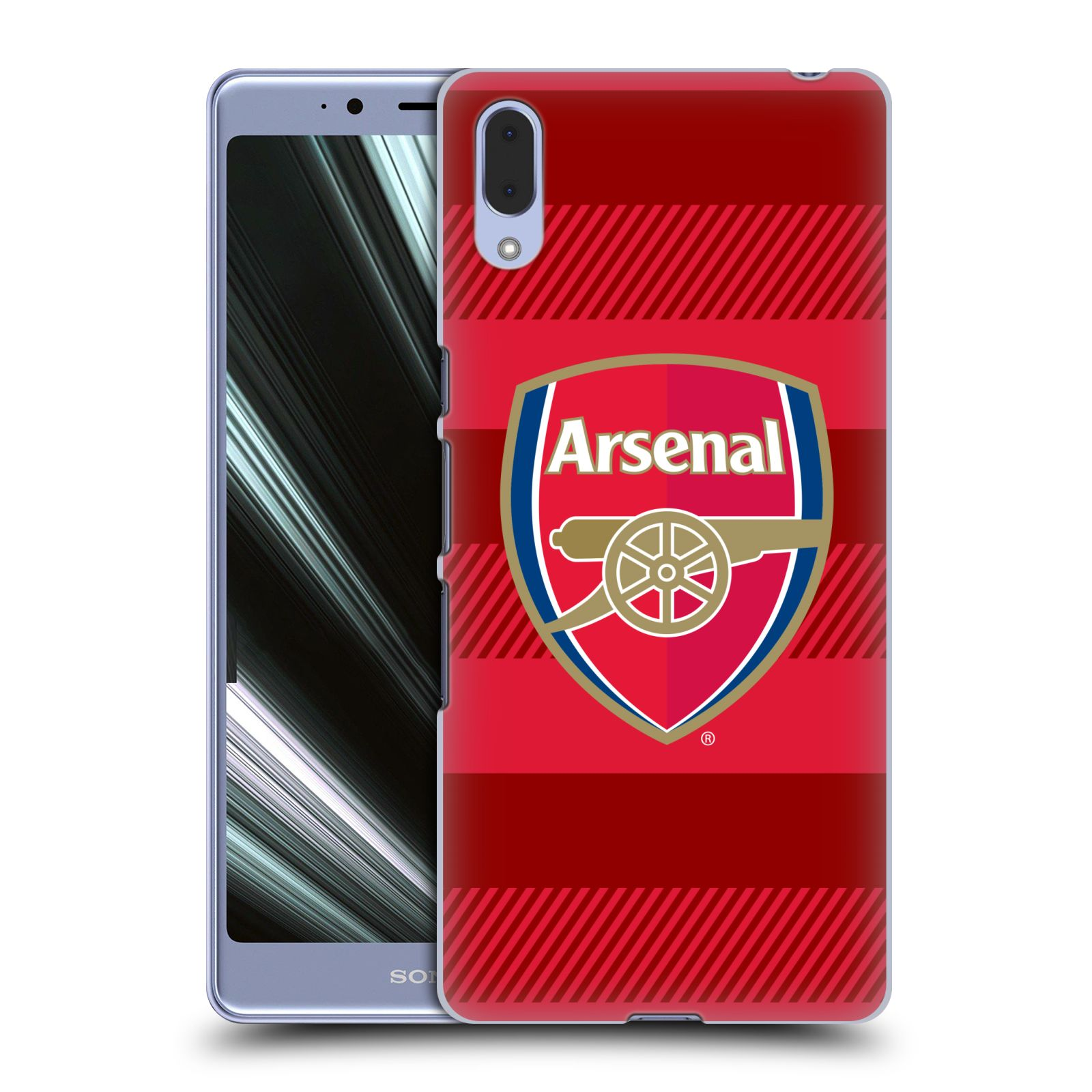 Plastové pouzdro na mobil Sony Xperia L3 - Head Case - Arsenal FC - Logo s pruhy