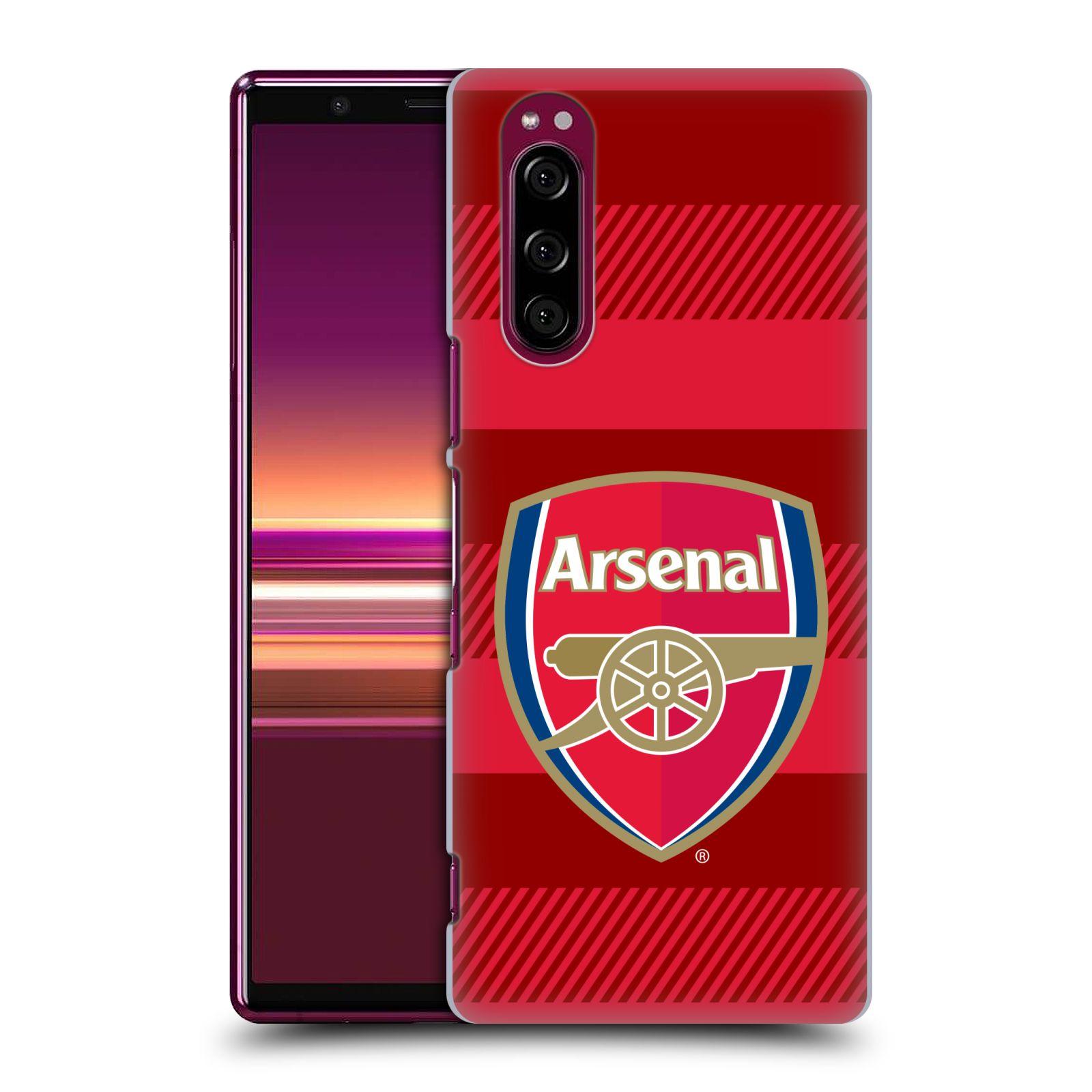 Plastové pouzdro na mobil Sony Xperia 5 - Head Case - Arsenal FC - Logo s pruhy
